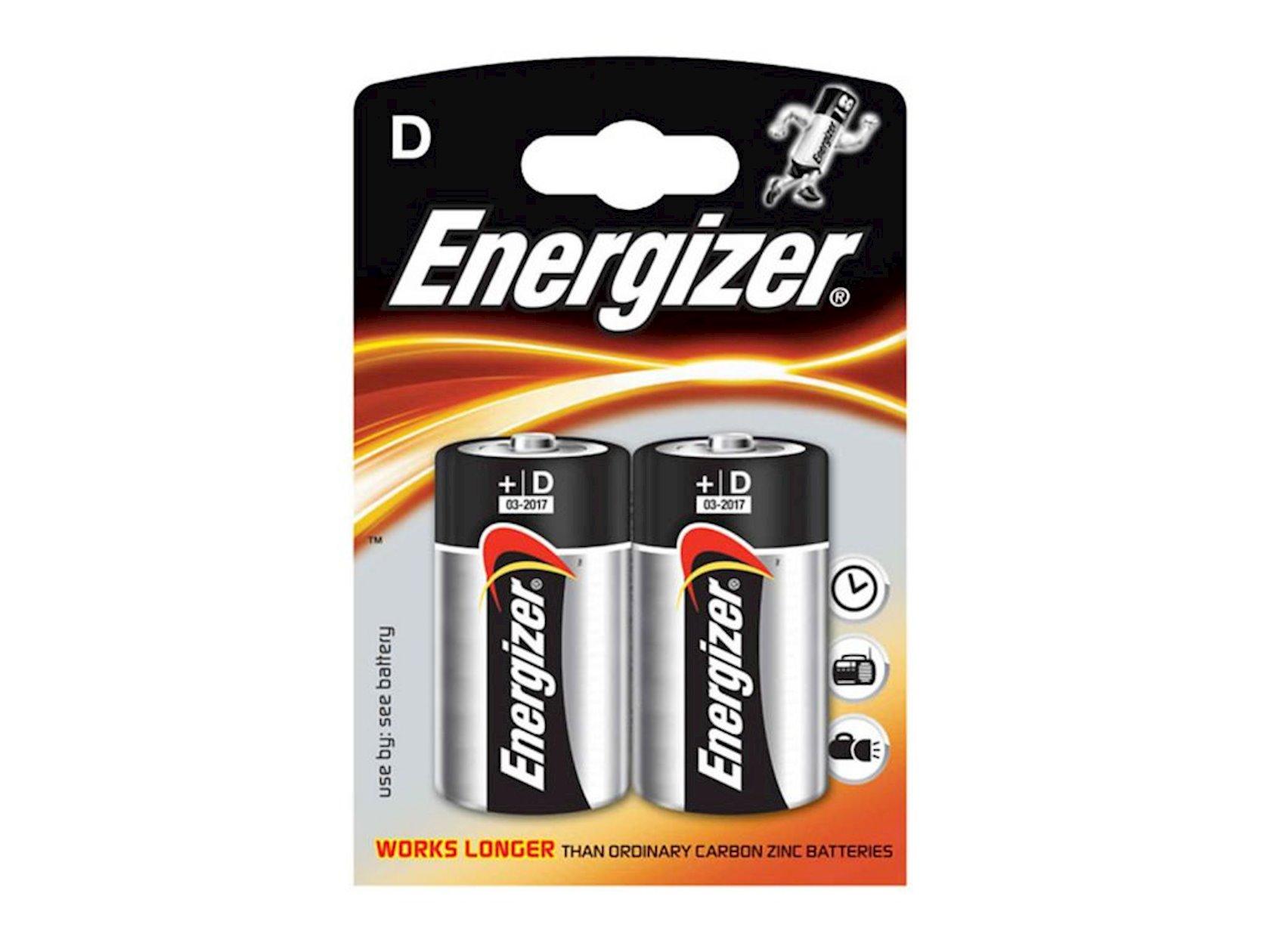 Batareya Energizer Alkaline Power D/LR20 2 əd