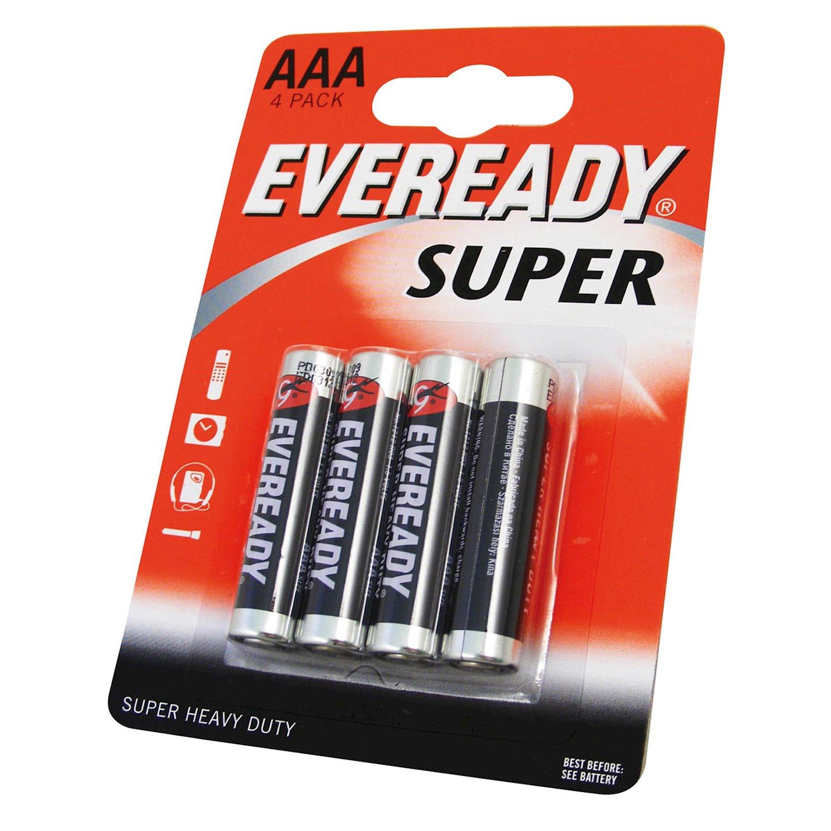"""Batareya Eveready """"Super"""", тип AAA, 1, 5V 4 əd"""