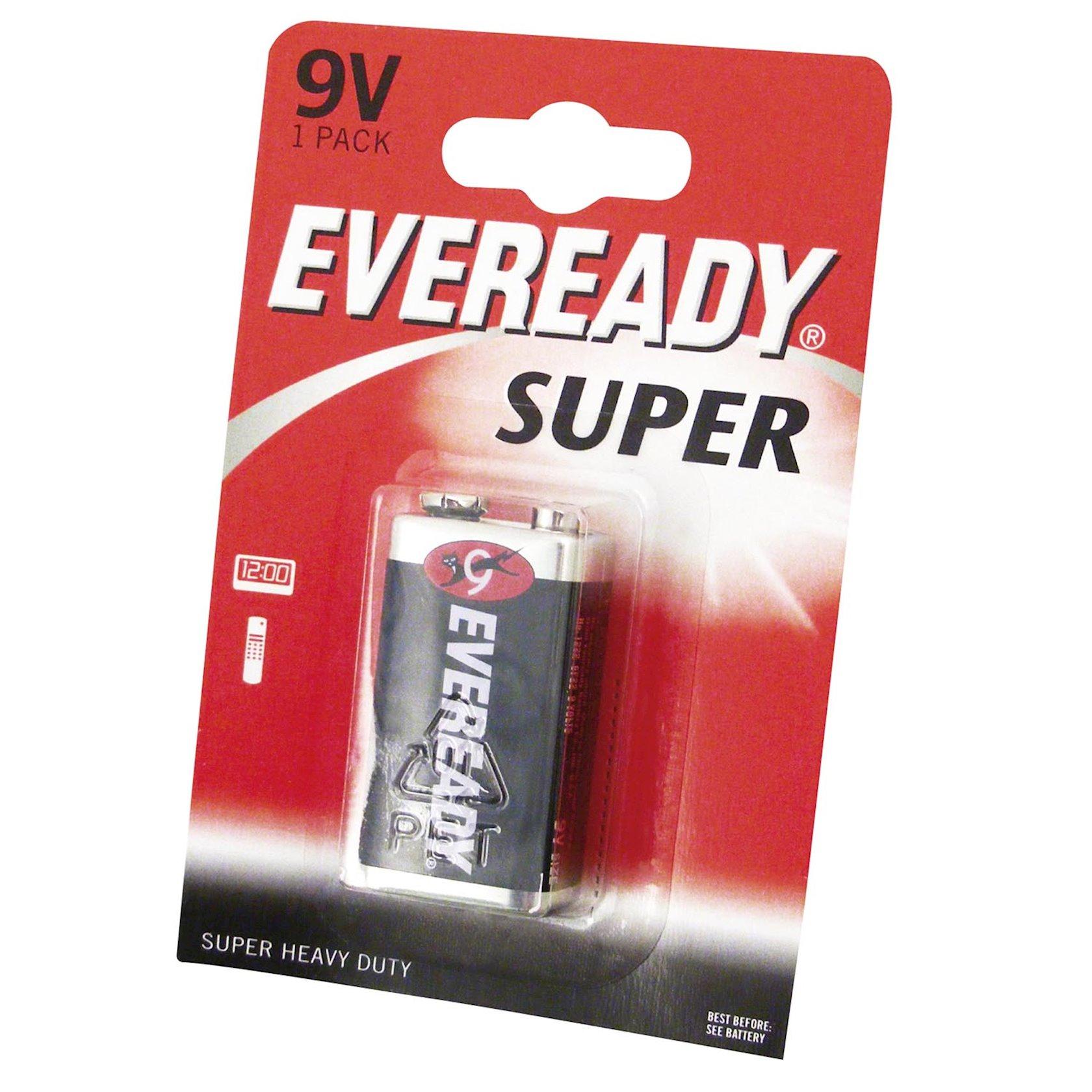"Batareya Eveready (крона) ""Super"", 9V 1 əd"