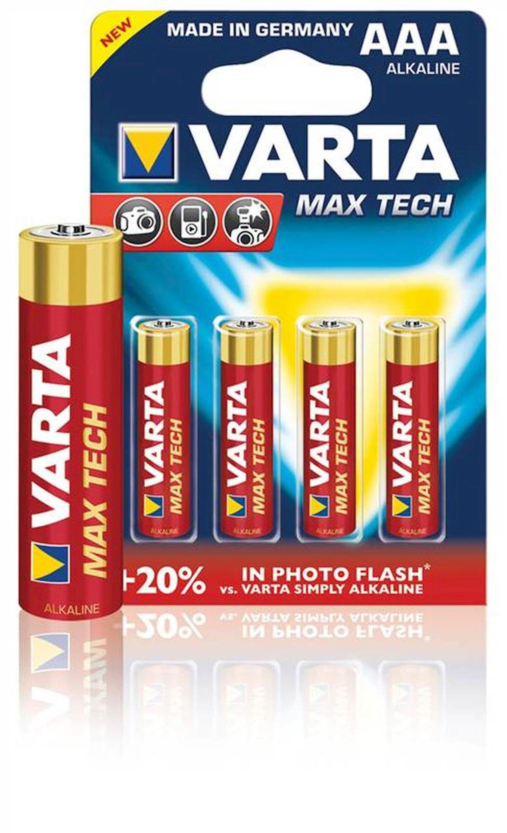Batareya Varta Max Tech 4703 LR03 AAA 1.5 V, 2 əd