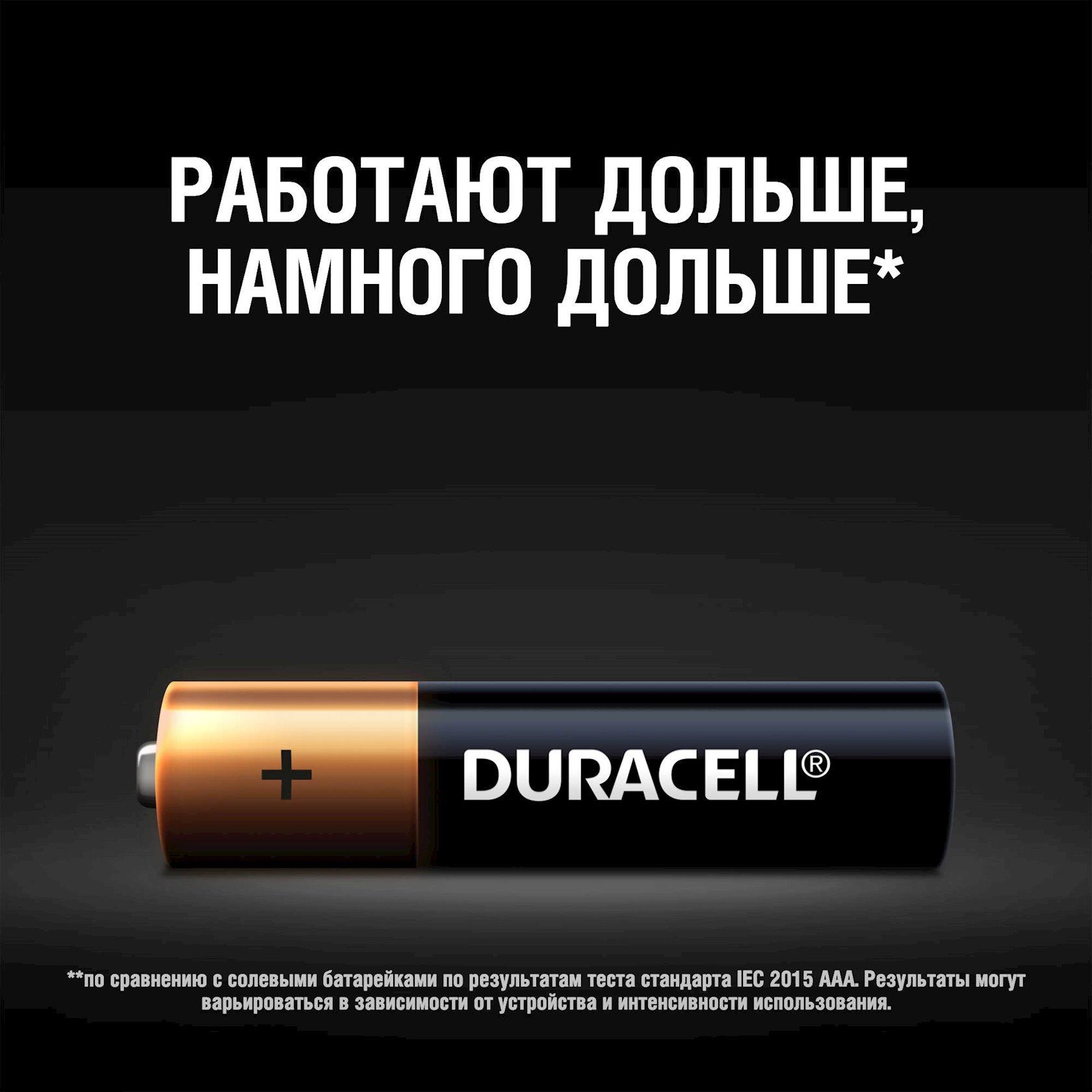 Batareya Duracell Basic LR03 AAA MN2400, 4 əd
