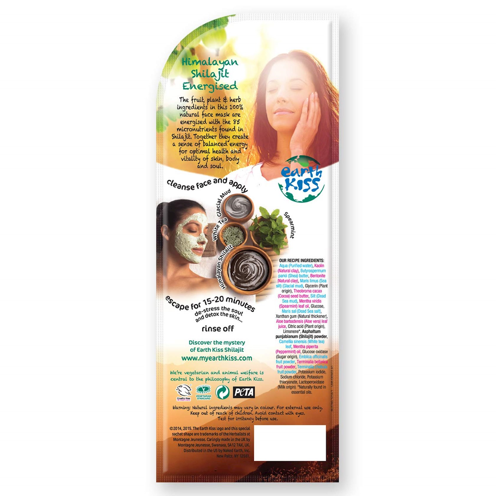 Palçıq maskası Earth Kiss Detox Pore Cleanse Mud Mask 17 q