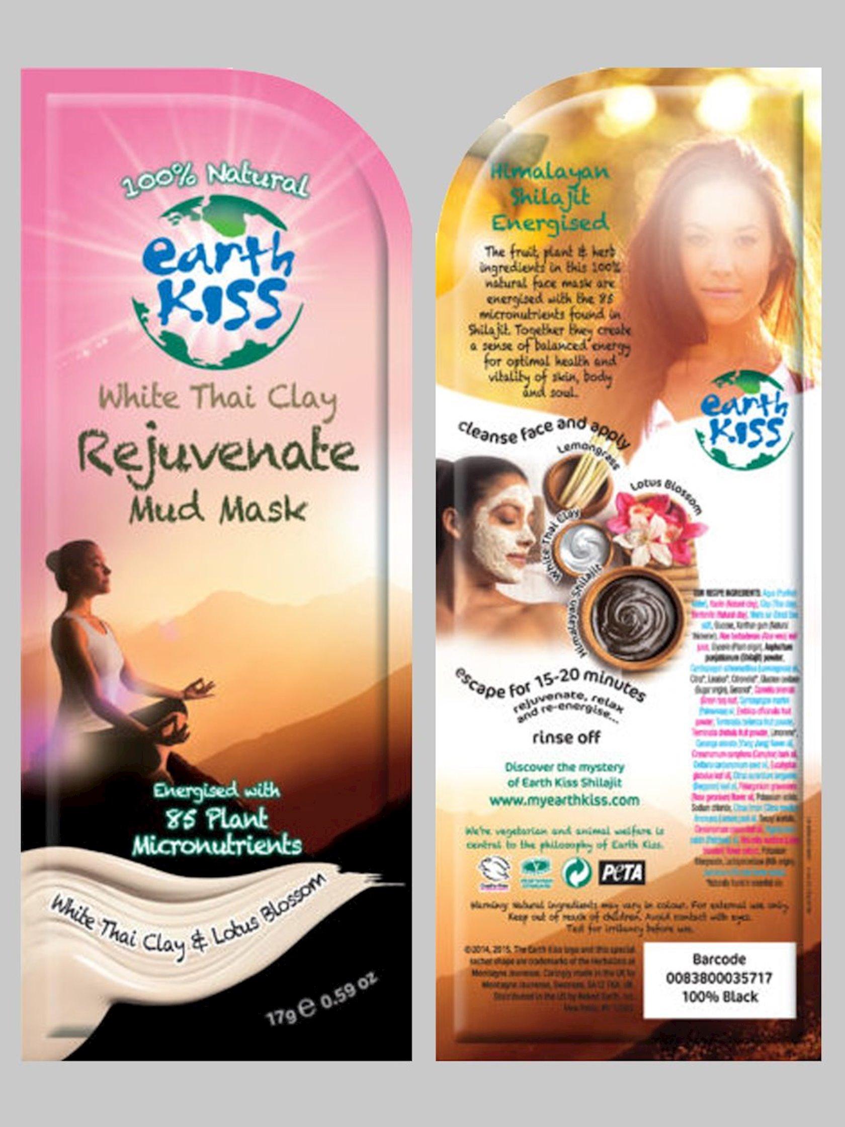 Palçıq maskası Earth Kiss White Thai Clay Rejuvenate Mud Mask 17 q