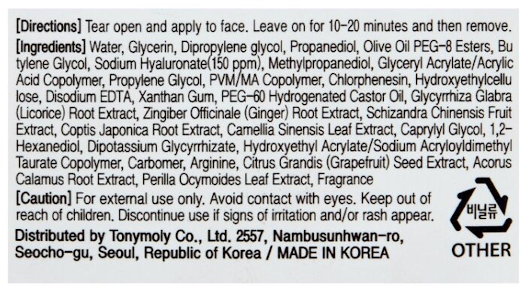 Parça maska Tony Moly Master Lab Hyaluronic Acid Mask
