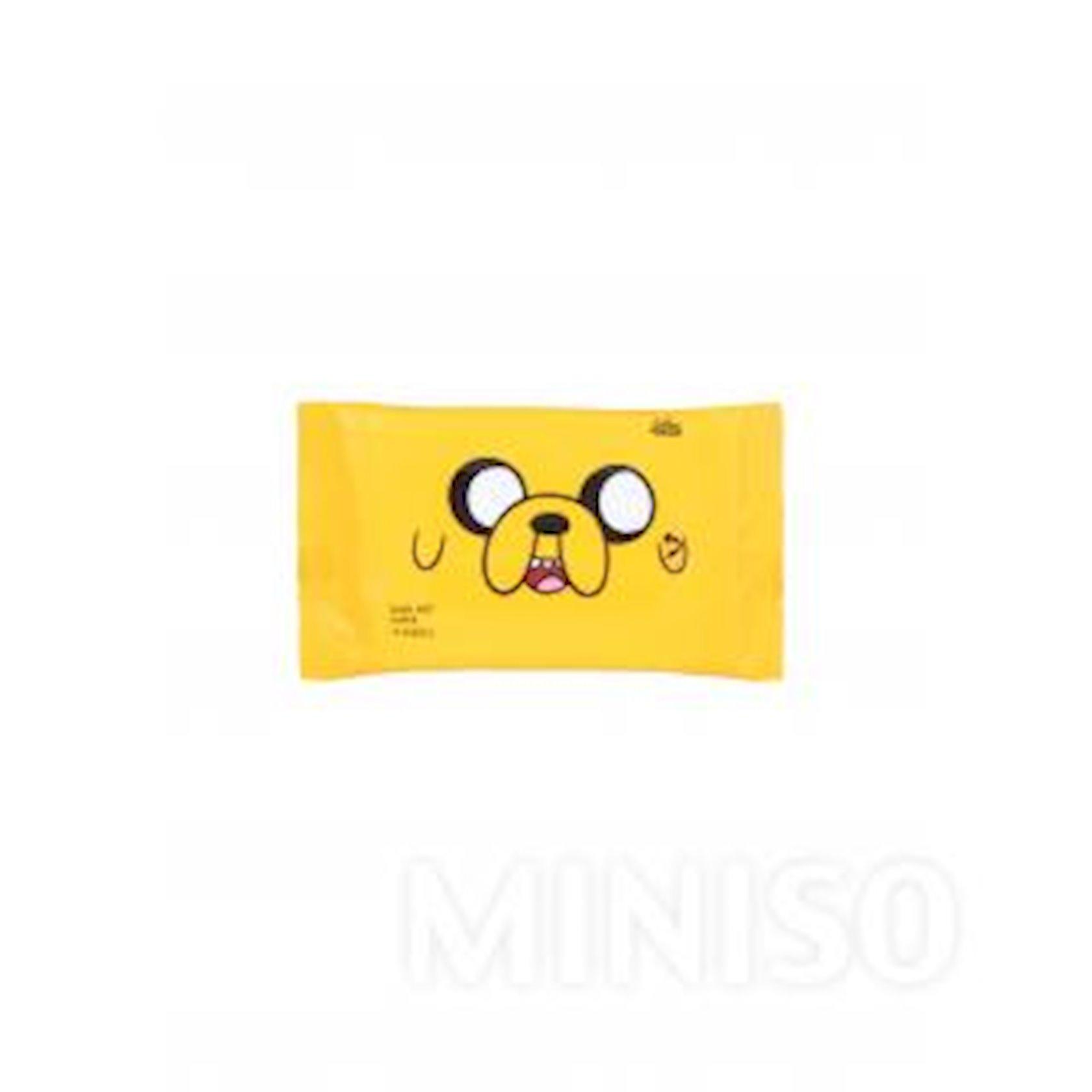 Uşaq nəm salfetləri Miniso Adventure Time (5 əd. x 10 salfet)