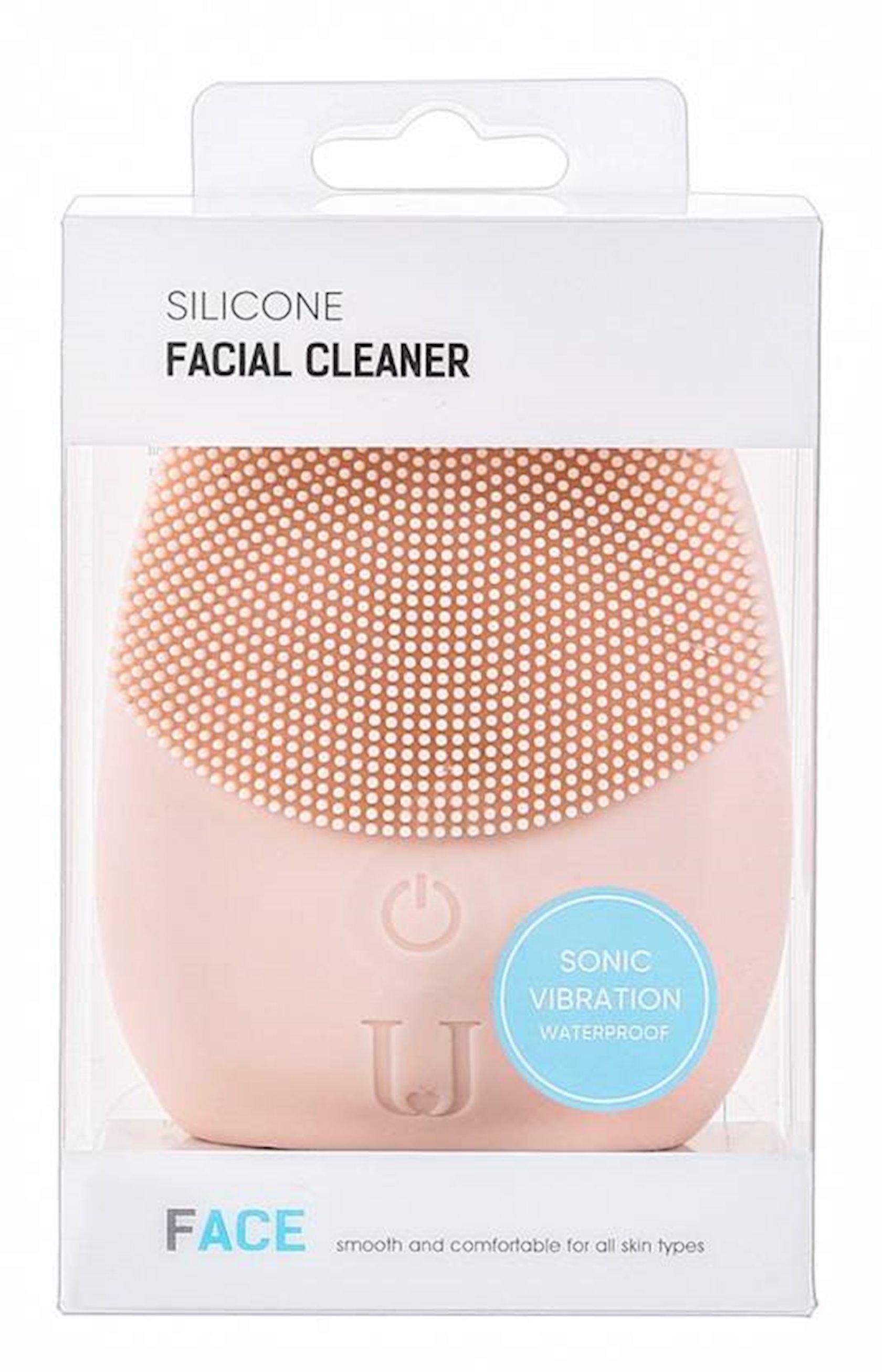 Üz üçün masaj fırçası Miniso Silicone Facial Cleaner (Pink)