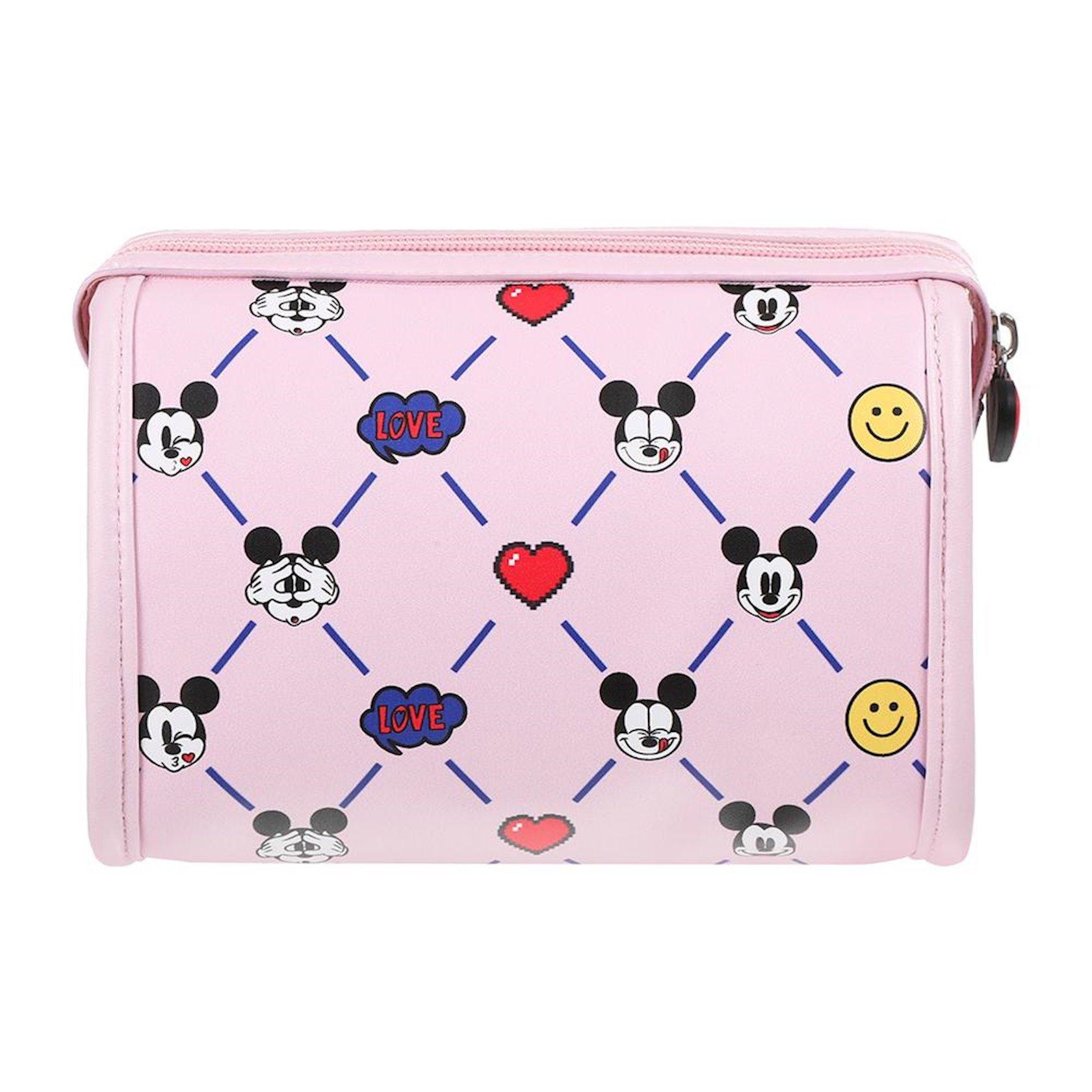 Kosmetika çantası Miniso Mickey Mouse Disney, Çəhrayı