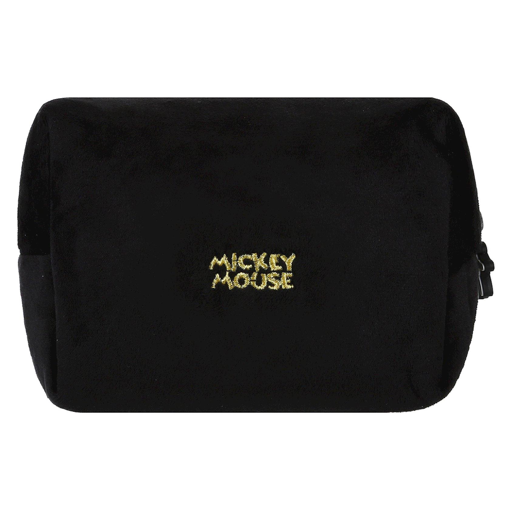 Kosmetika çantası Miniso Mickey Mouse Collection Fluffy Cosmetic Bag, Qara
