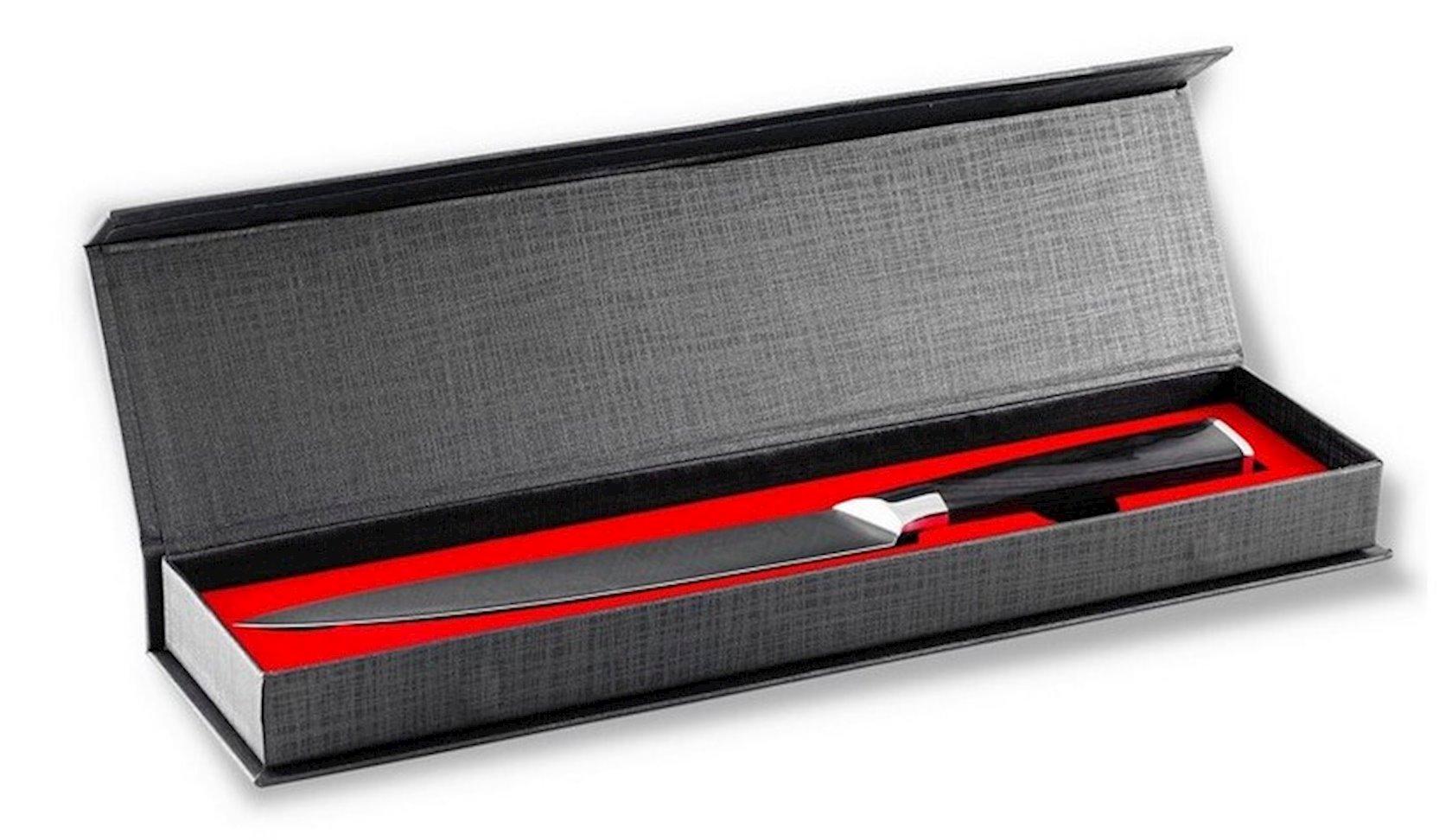 Mətbəx bıçağı Gipfel LAMINILI 9882 Ülgücün materialı: polad X50CrMoV15, Tutacağın materialı: polad, taxta laylı plastik, Qalınlıq: 2, 5mm