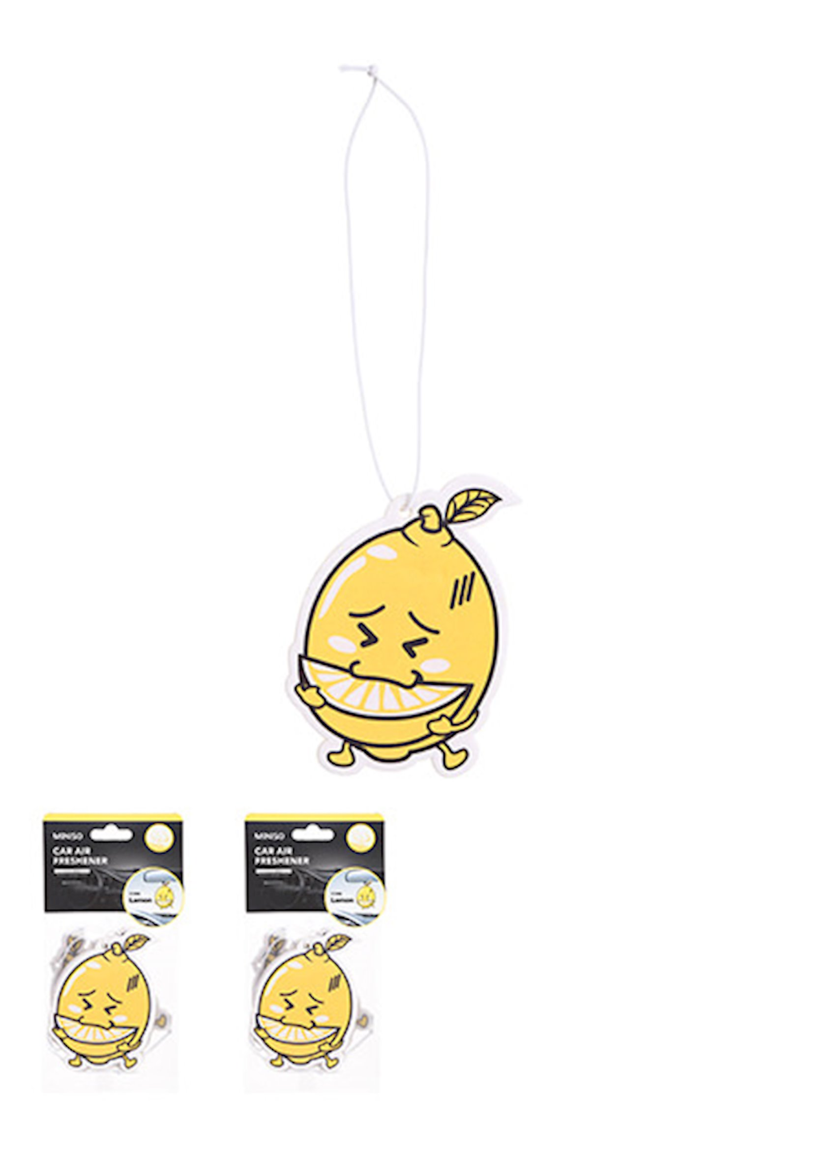 Avtomobil hava təravətləndiricisi Miniso Lovely Car Air Freshener(Lemon), 6.8 х 8 sm, 7 q