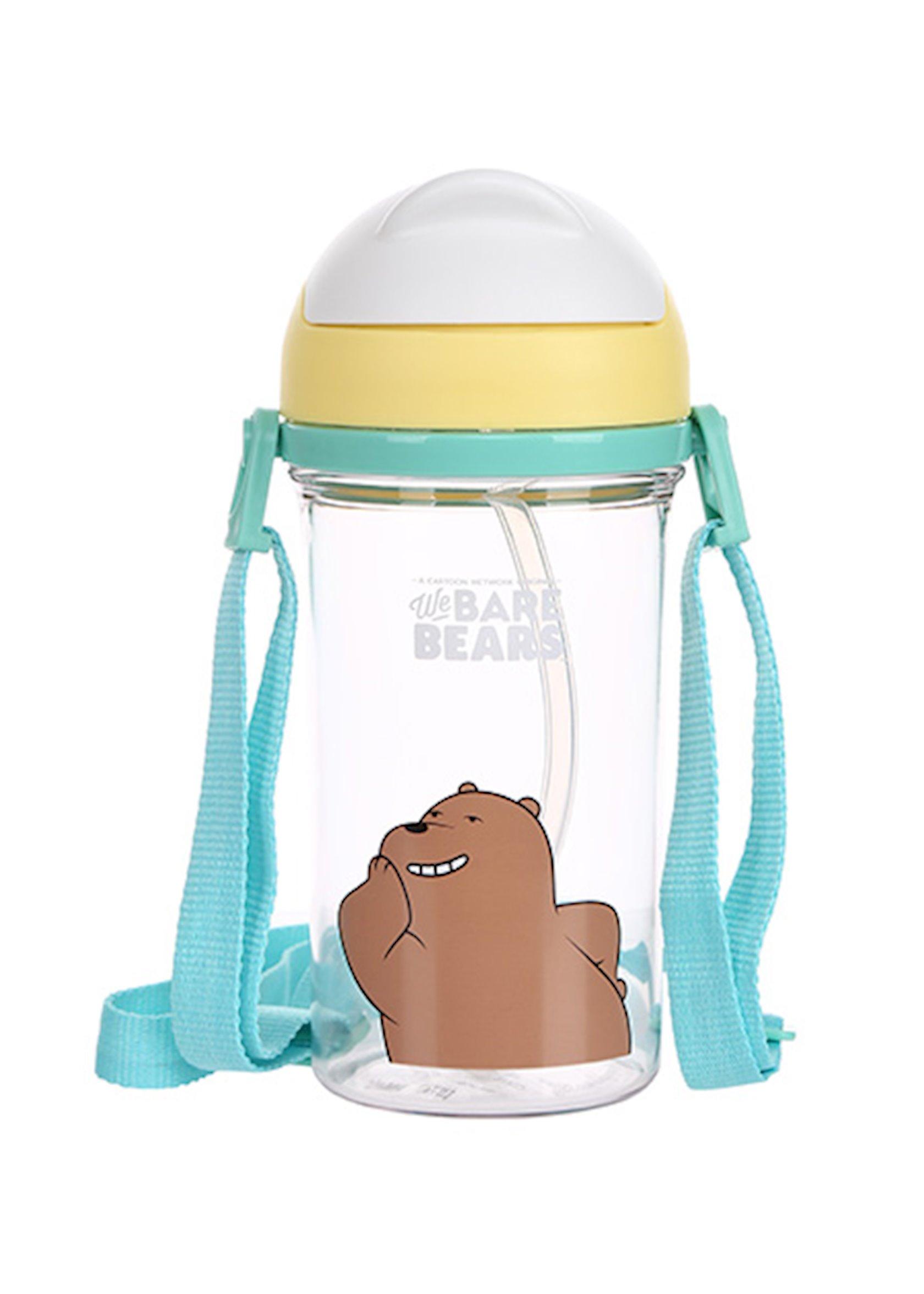 Su butulkası trubka ilə Miniso We Bare Bears Grizzly, 400 ml