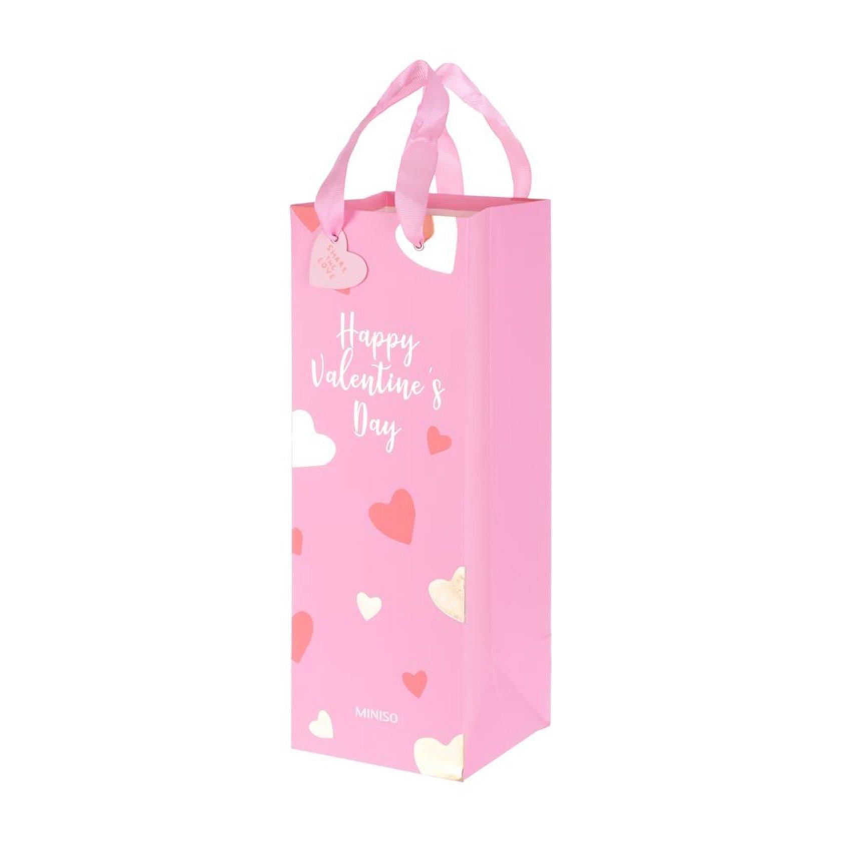 Hədiyyə çantası Miniso Happy Valentine's Day Çəhrayı 12.3 х 34 sm
