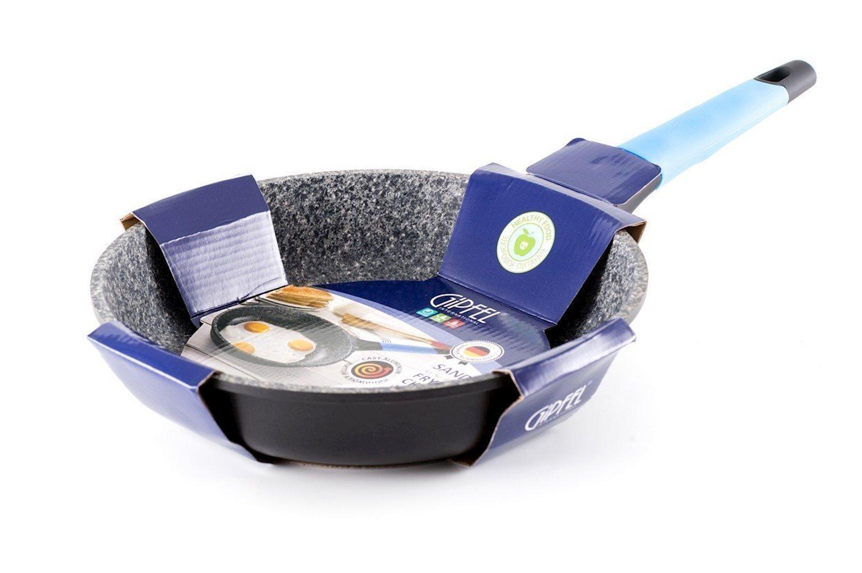 Tava Gipfel SANDRA 0578 26х6, 0sm. Material: Tökmə alüminium, induksiya dibi, daxilində PFLUON granite coating örtüyü, bayırdan PTFE örtüyü, bakelit tutacaq SOFT TOUCH örtüyü ilə