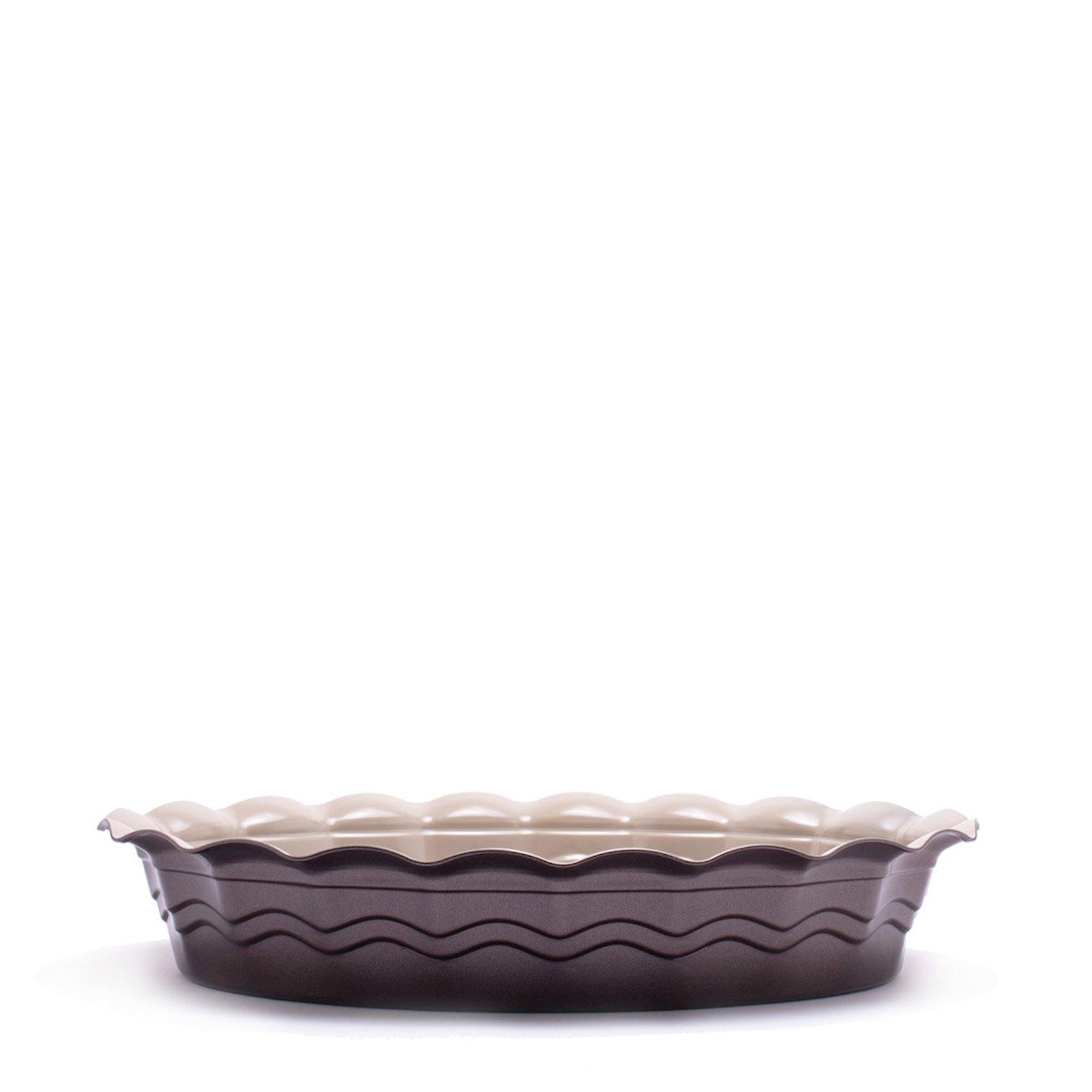 Bişirmə forması Gipfel OVEN 1894 42, 0x33, 0x7, 5sm, oval yapışmayan örtük Whitford ilə, Rəng: Krem rəngli, Qəhvəyi, Material: Karbonlu polad