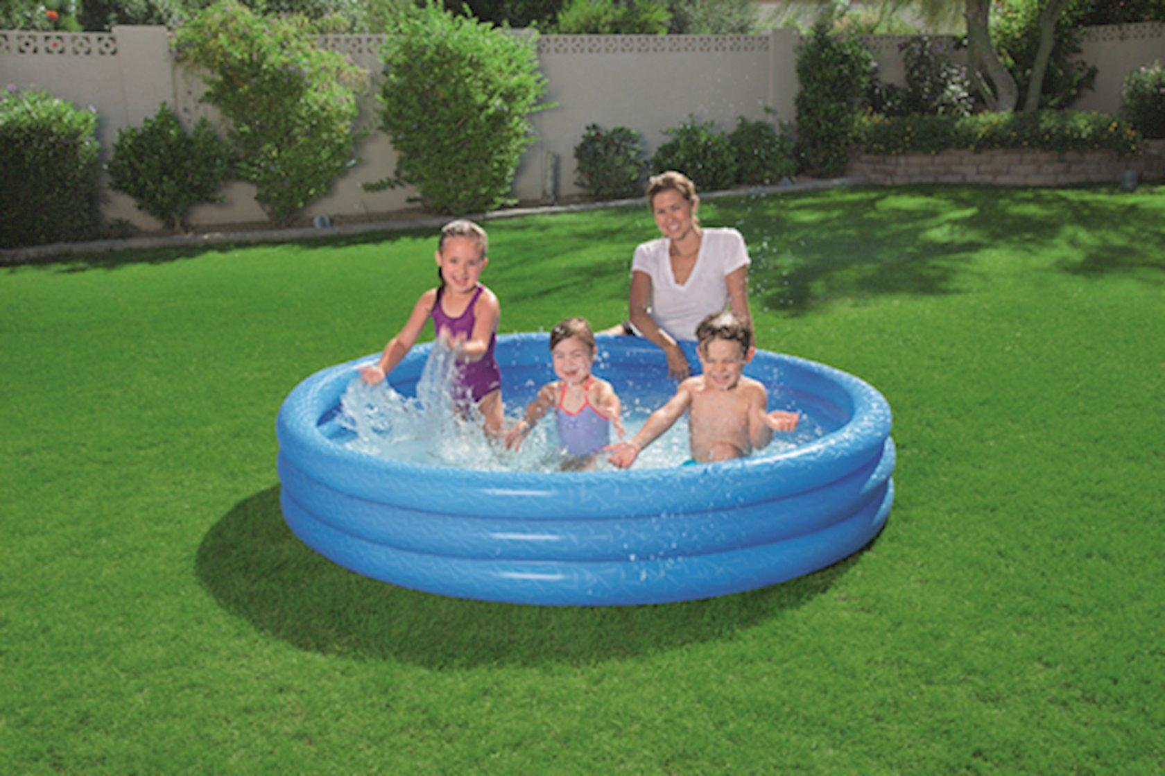 Baseyn Bestway 72x13-Inch Play Pool, Uşaq üçün, Şişmə, Yumru, Diametr 183 sm, Hündürlüyü 33 sm, Həcmi 480 l, Mavi-Qırmızı-Yaşıl