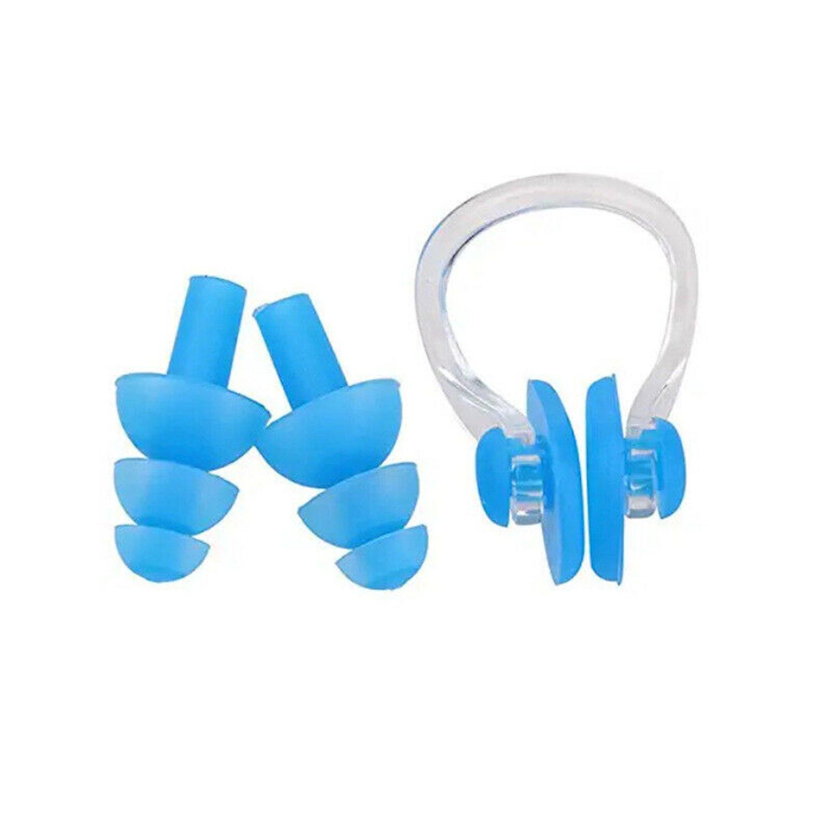 Burun sıxacı Zoggs Nose Clip, plastik/silikon, çexol dəstdə, ağ(şəffaf), mavi