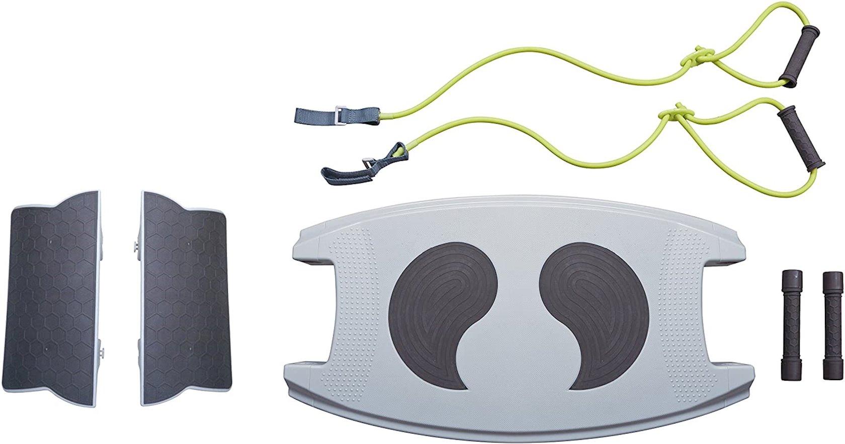 Step-platforma Body Sculpture Unisex's 18-in-1 Gym Worker,  DVD və daşıma çantası ilə, boz/yaşıl