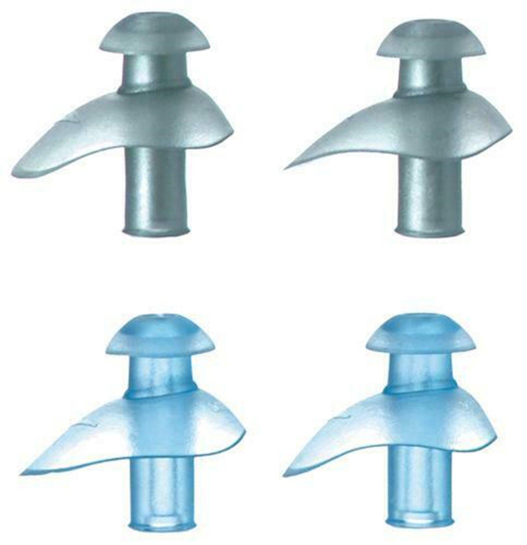 Qulaq tıxacı Speedo Ergo Ear Plugs, Termoplastik rezin, Çexol dəstdə, boz, mavi