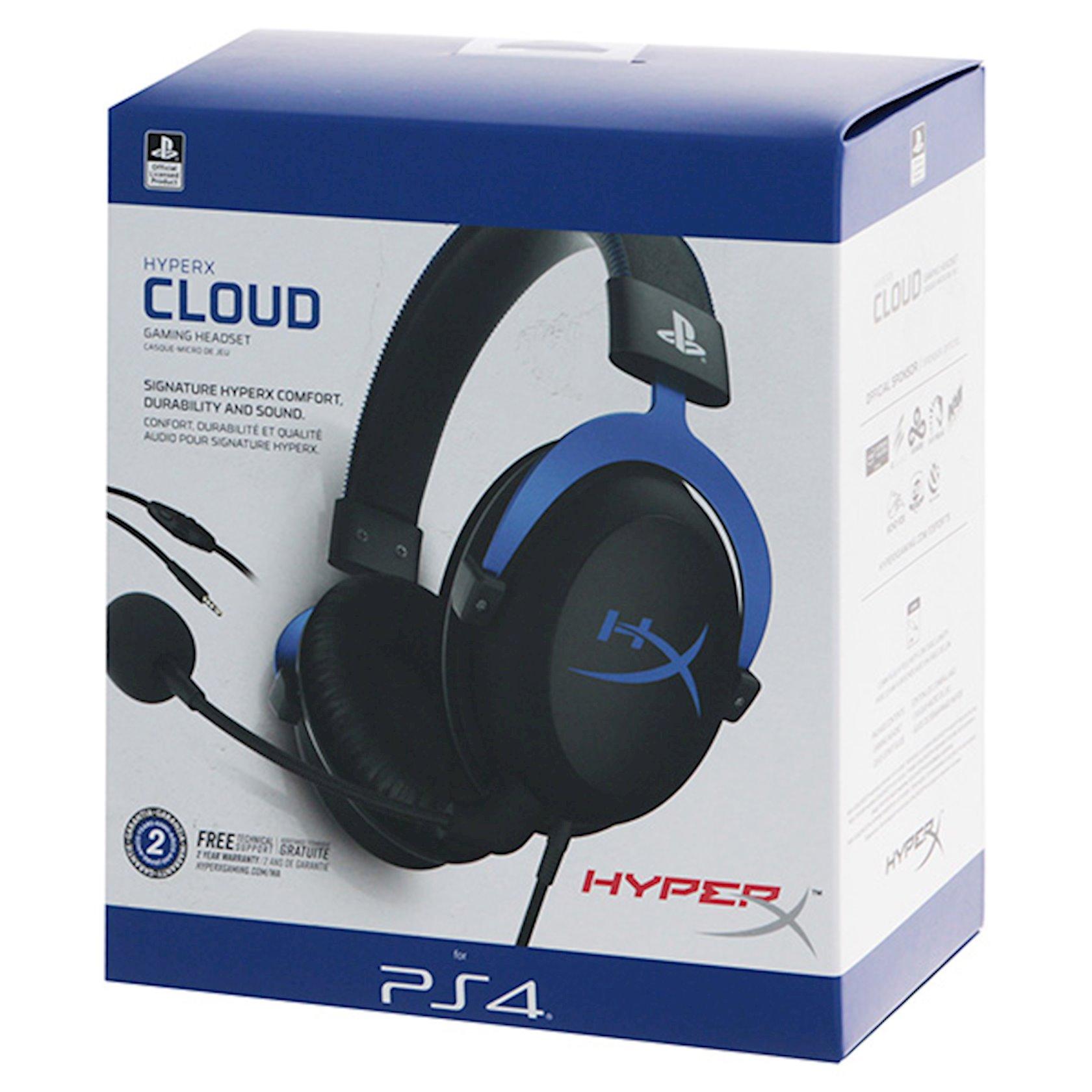 Qulaqlıq-qarnitur HyperX Cloud PS4 (HX-HSCLS-BL/EM) Black