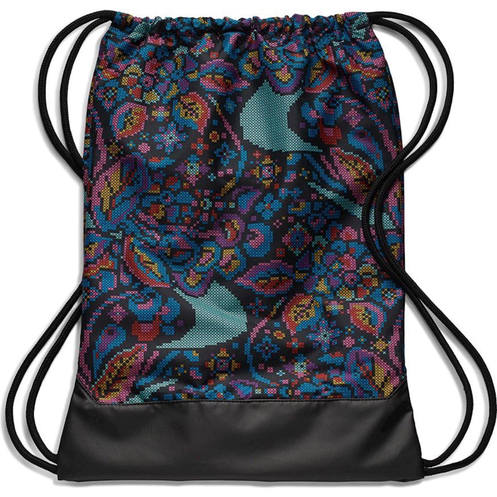Ayaqqabılar üçün torba NIKE BRASILIA 9.0 BA6049 GYMSACK, Uniseks, Polyester, Qara/Multi