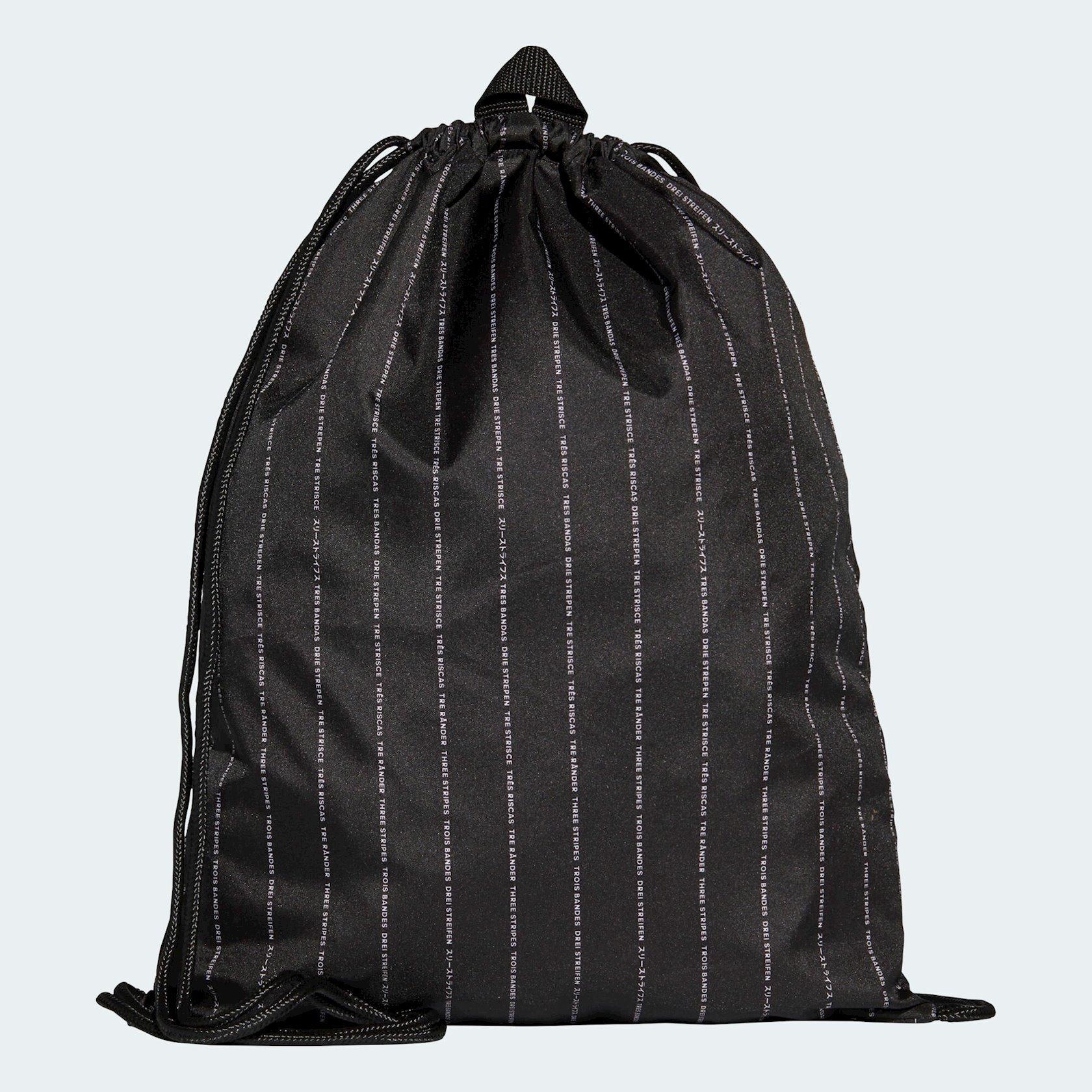 Ayaqqabılar üçün torba ADIDAS PERFORMANCE LOGO DM7666 GYMSACK, Uniseks, Polyester, Qara