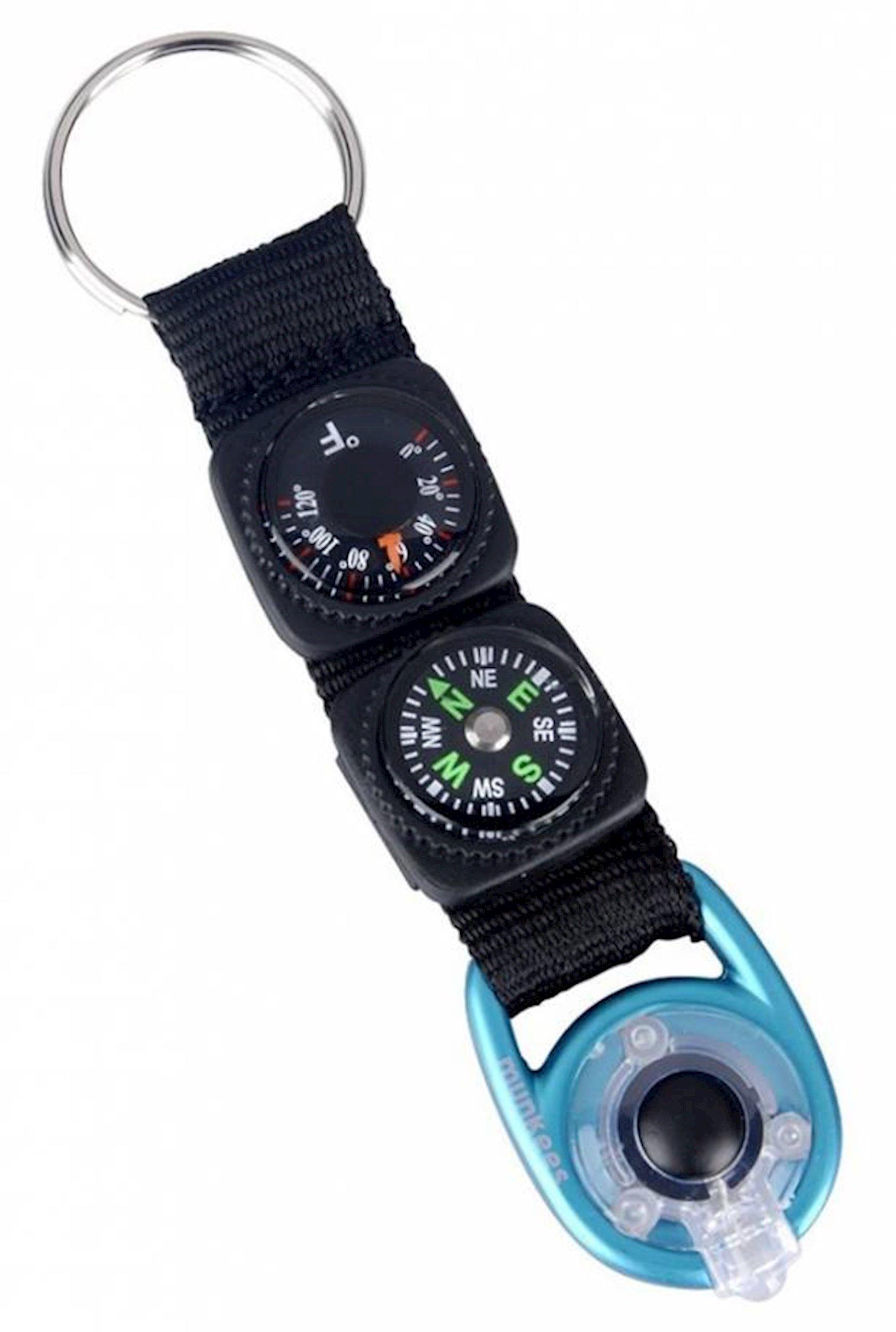 Brelok-fənər Munkees LED 1084 kompas və termometr ilə, 110 mm, Qara