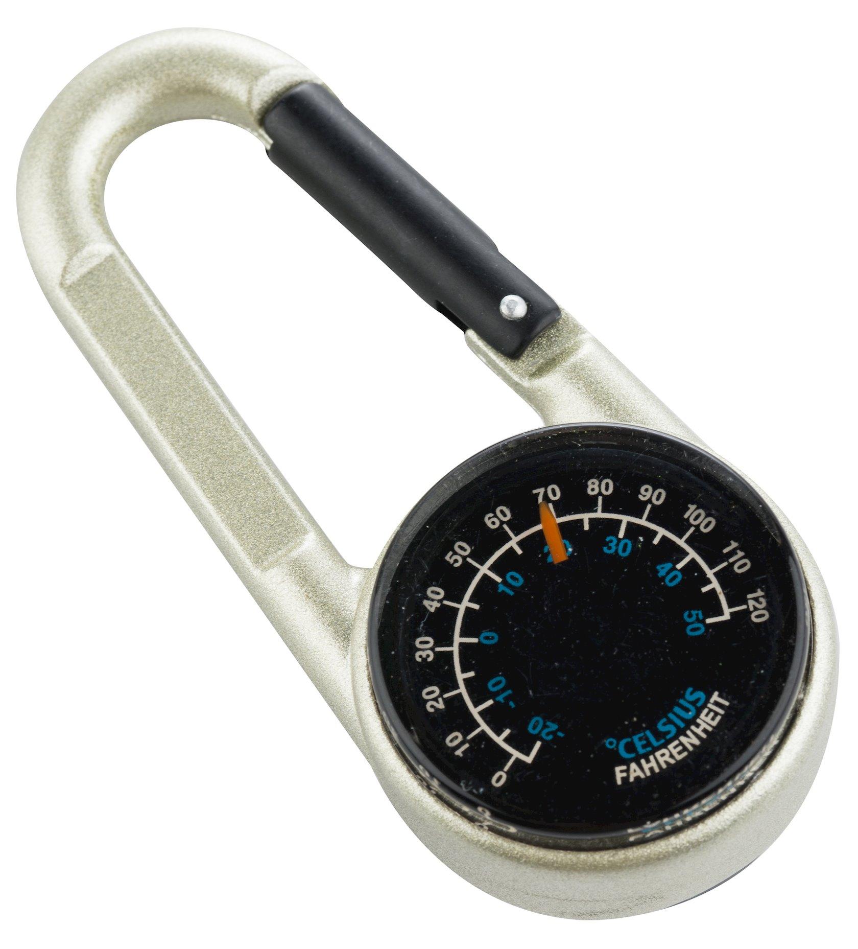 Çoxfunksiyalı brelok Munkees 3135 kompas və termometr ilə, 80 mm, Gümüşü