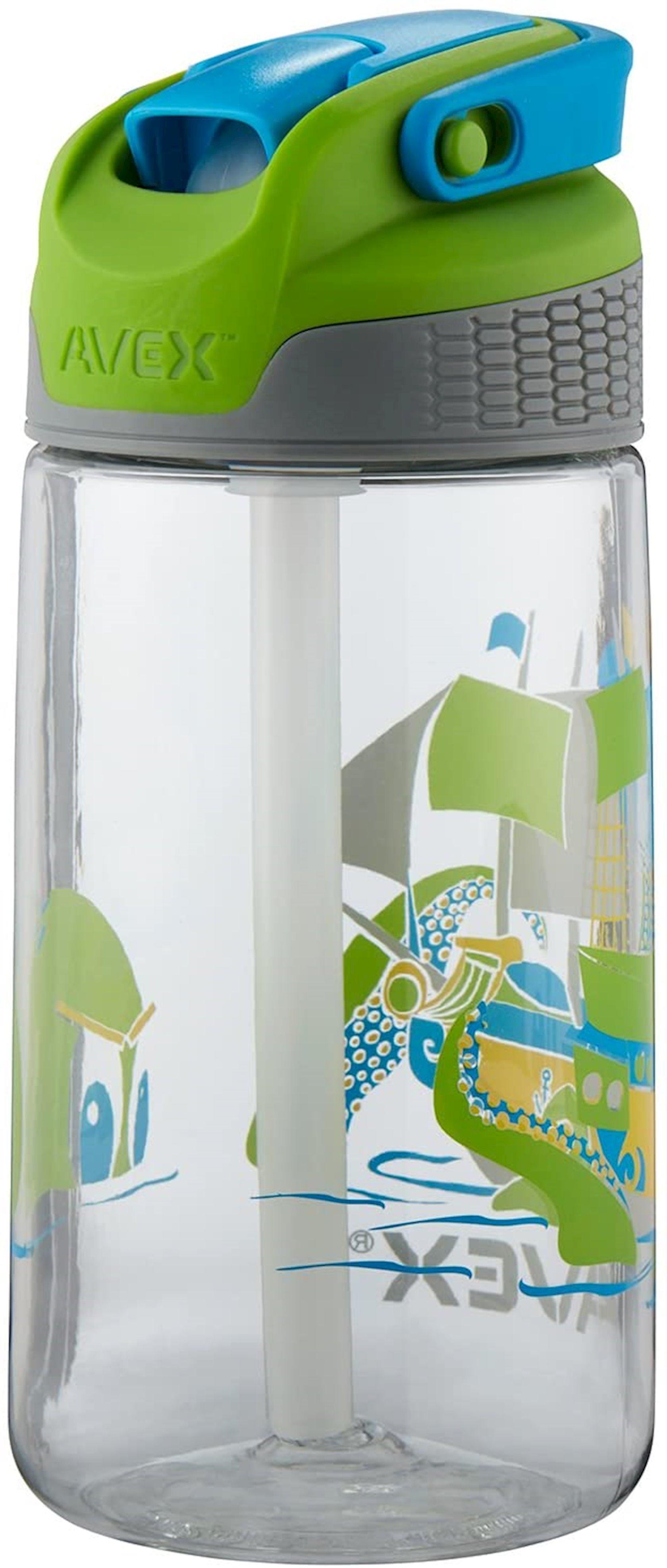 Butulka Avex Kids' Freestyle Autospout Water Bottle - Ship Graphic, 473 ml, Şəffaf