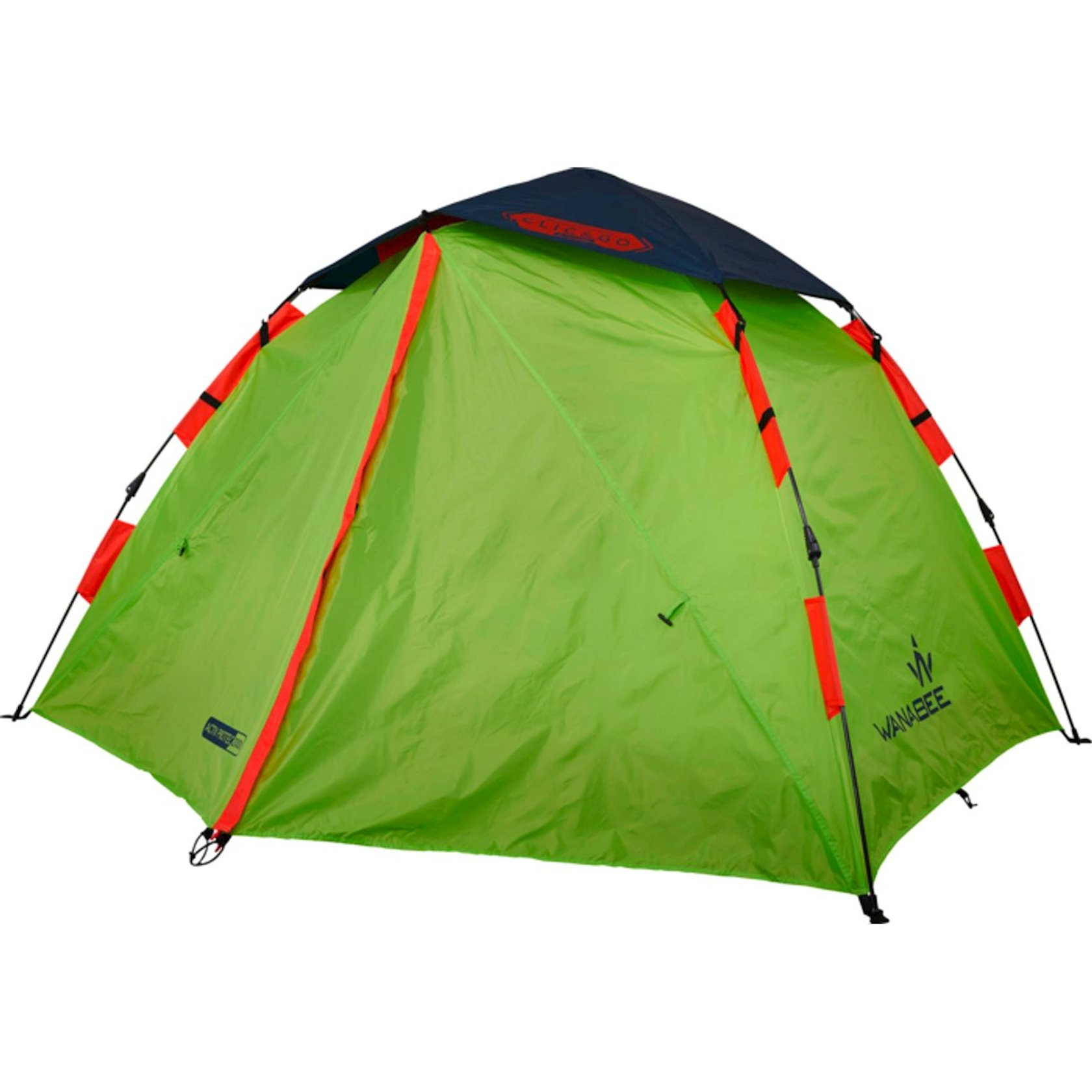 Çadır Wanabee Clic & Go 2, İki nəfərlik, Polyester, En 150sm x Dərinlik 220sm x Hündürlük 115sm, Yaşıl, 3.2 kq