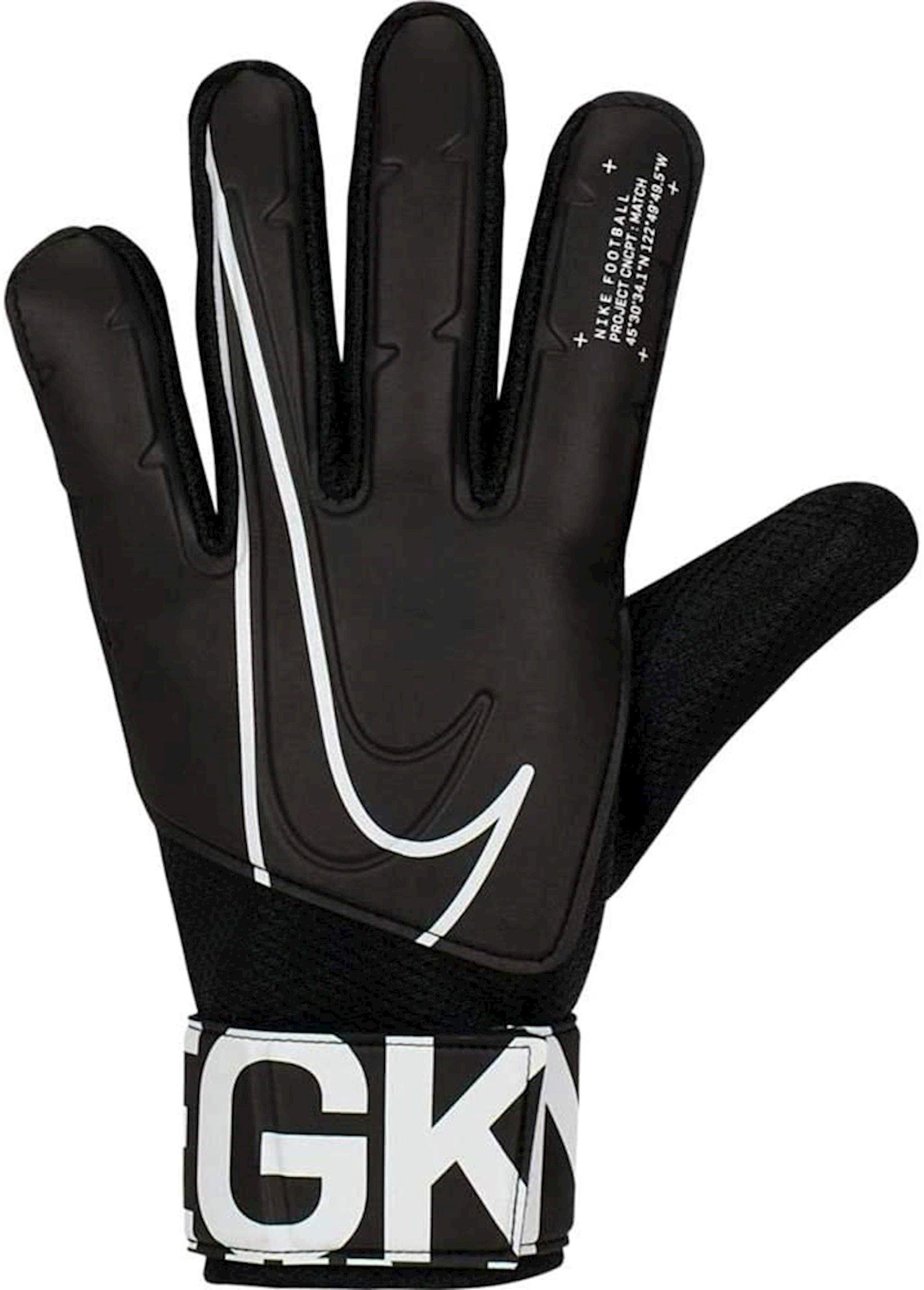 Qapıçı əlcəkləri Nike GK Match FA19 GS3882, Uniseks, Qara/Ağ, Ölçü 10
