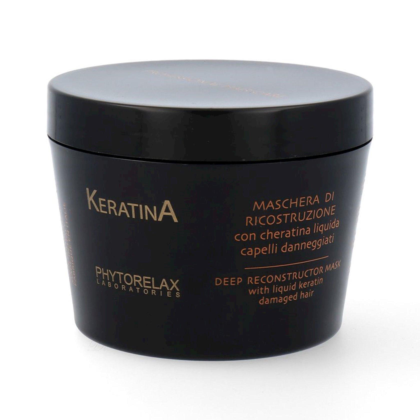 Zədələnmiş saçlar üçün maska Phytorelax Laboratories Keratina Deep Reconstructor Mask 200 ml