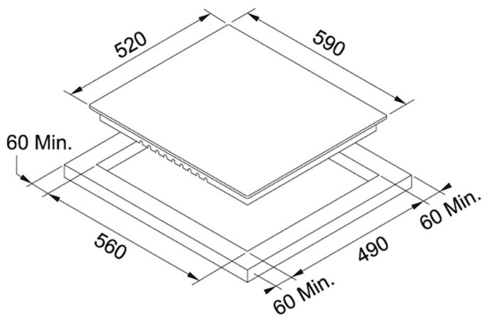 Bişirmə paneli Franke FHR 604 C T BK