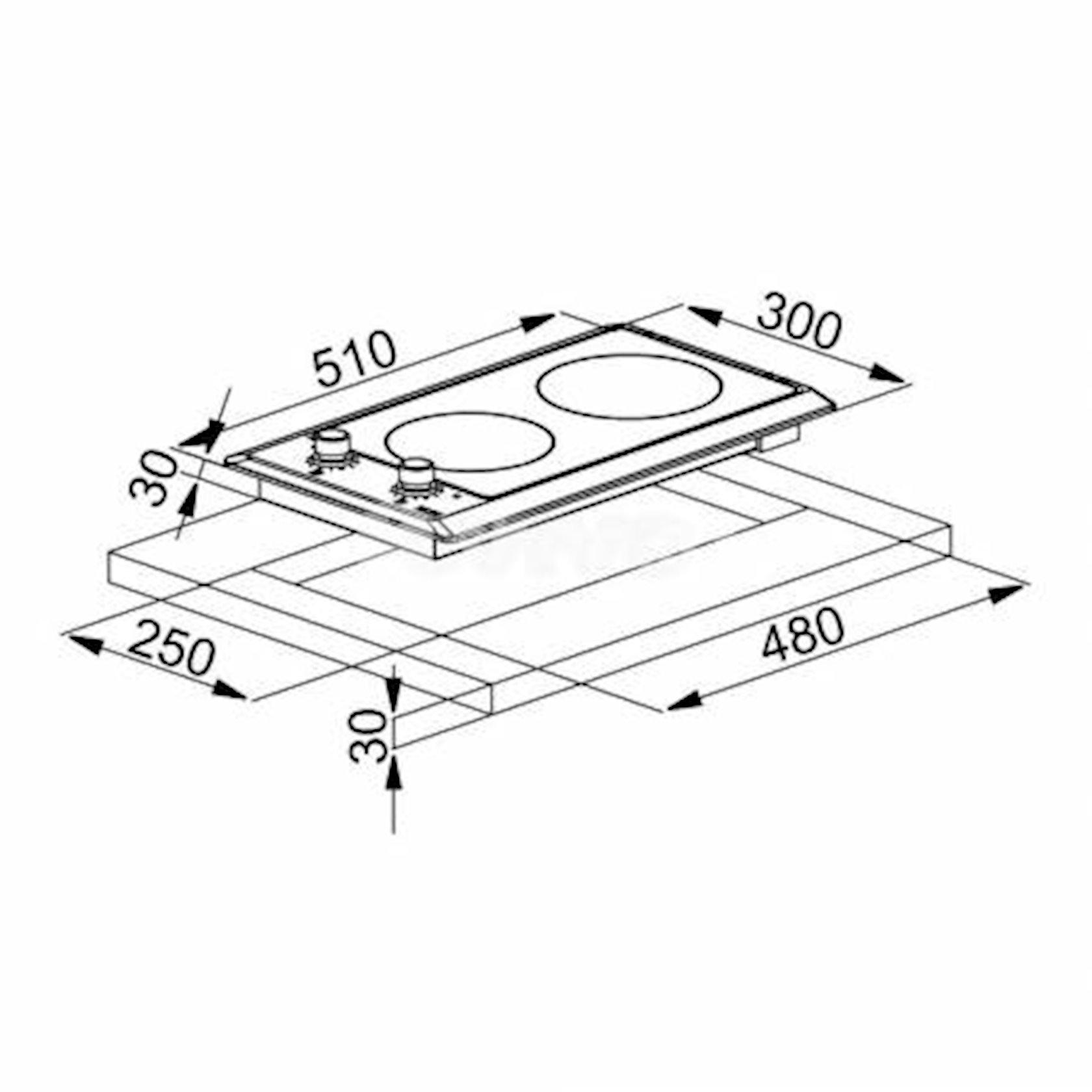 Bişirmə paneli Franke FHM 302 2C M XS