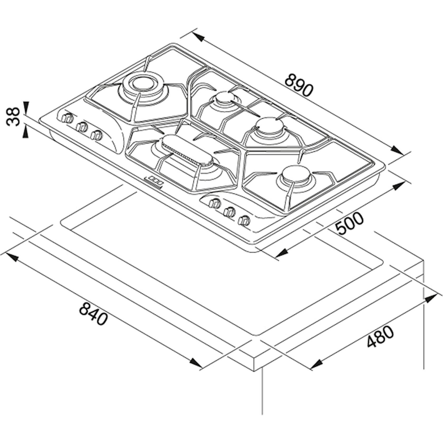 Bişirmə paneli Franke POT 6 3GAV-D-O