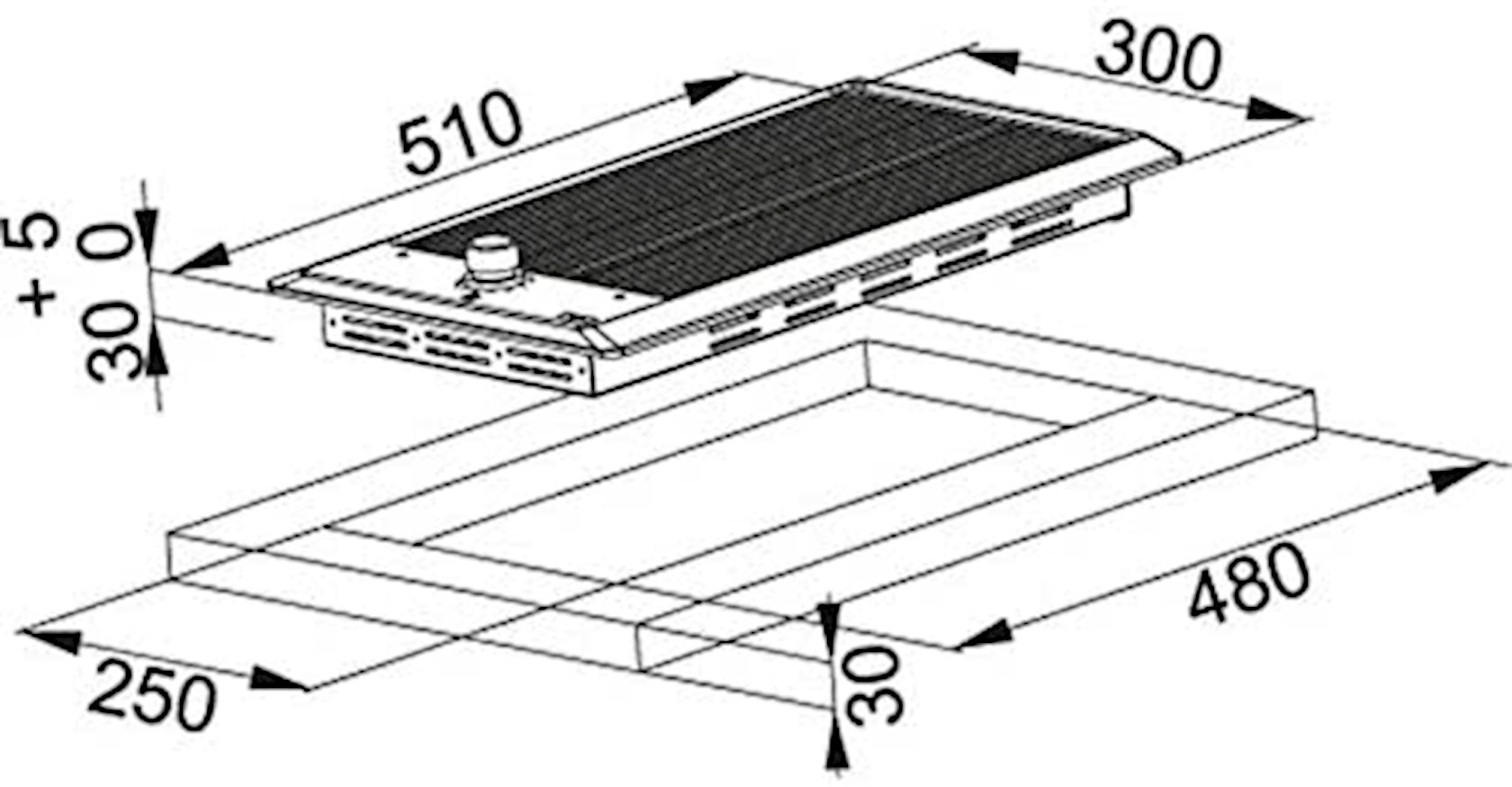 Bişirmə paneli FHM 301 BQ XS