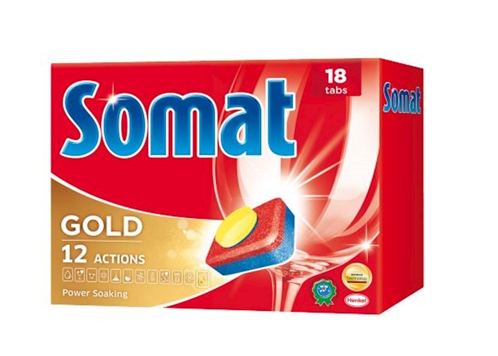 Qabyuyan maşın üçün həblər Somat Gold, 18 əd