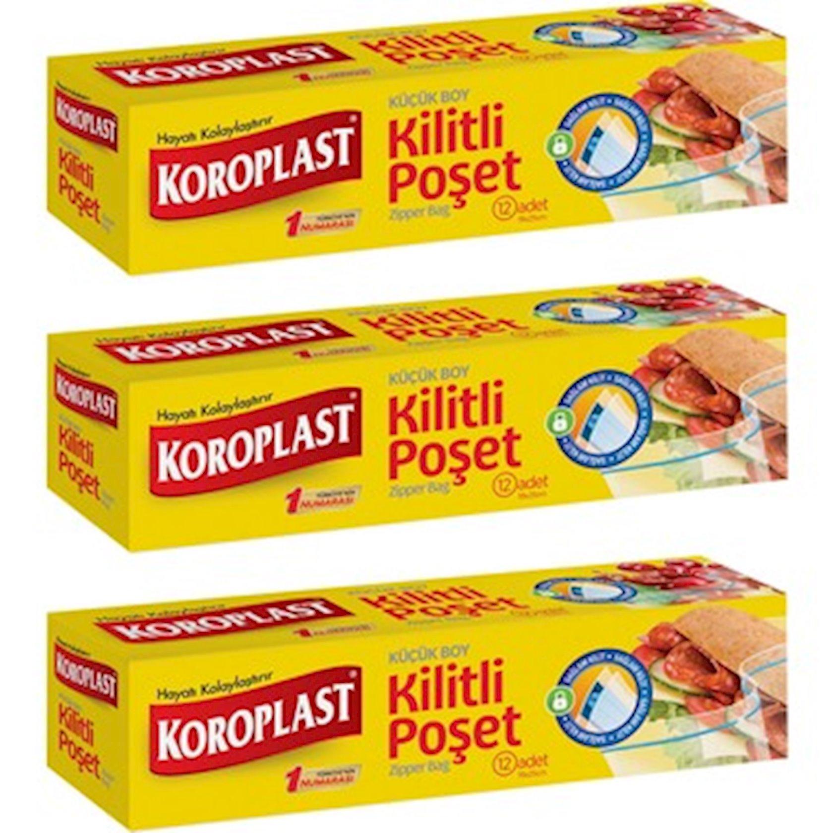 Soyuducu üçün çantalar Koroplast 19x25 sm 12 əd