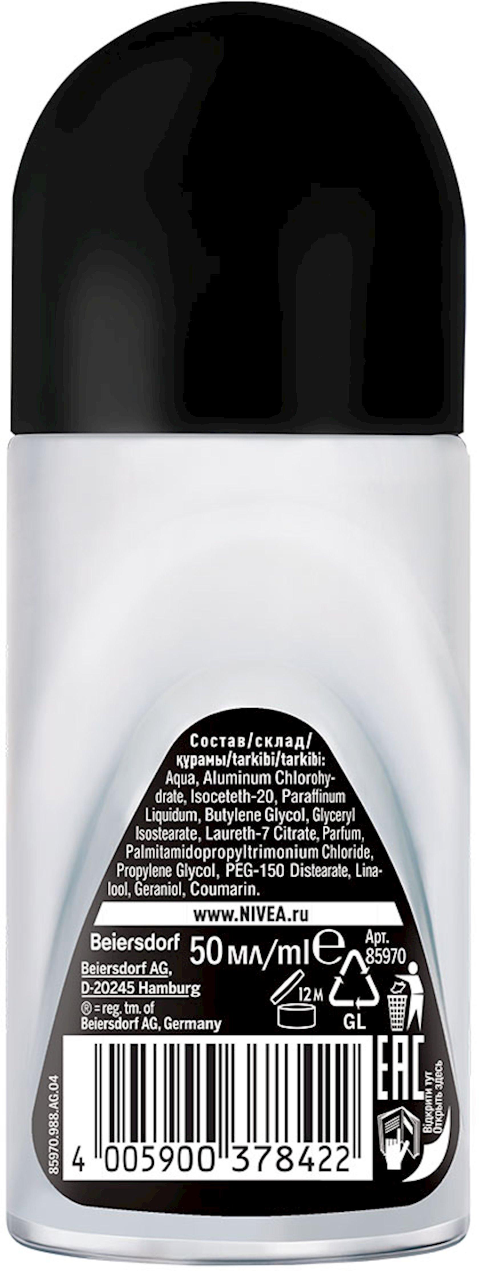 Dezodorant-antiperspirant Nivea Men Fresh Qara və Ağ