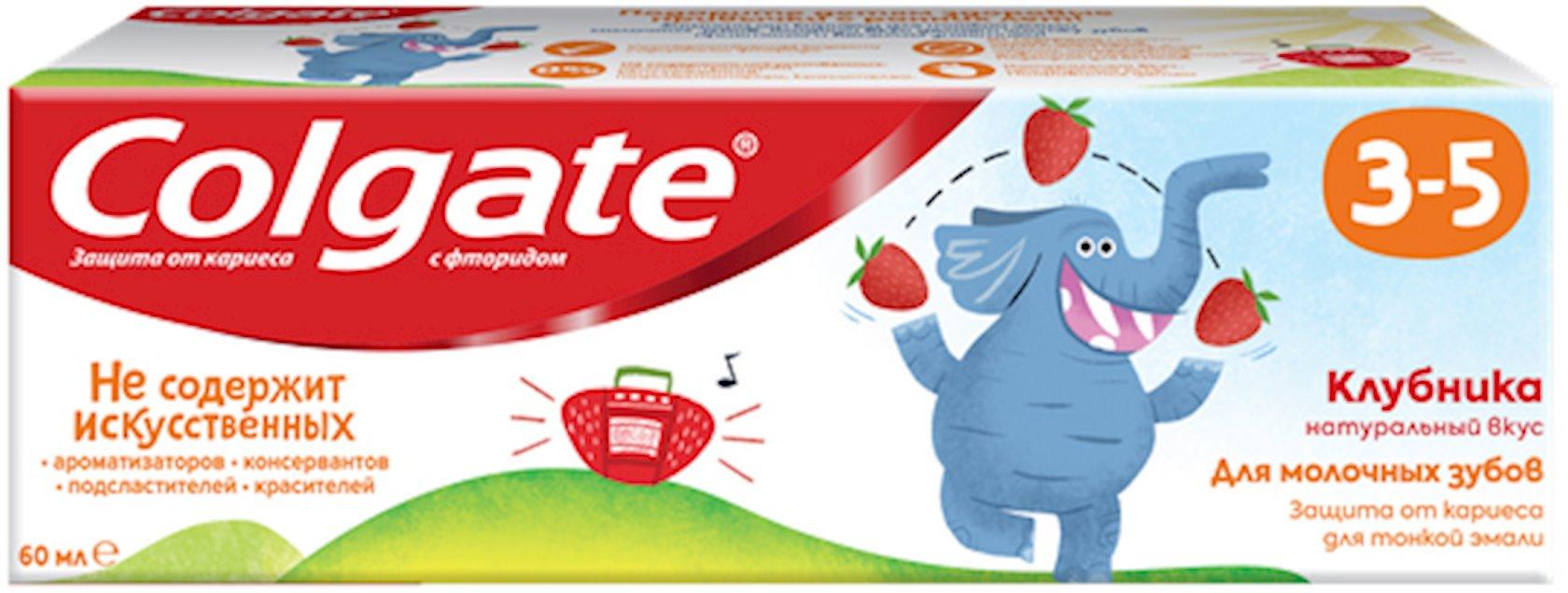 Uşaqlar üçün diş pastası Colgate Çiyələk ftor ilə 3-5 yaş arası 60 qr.