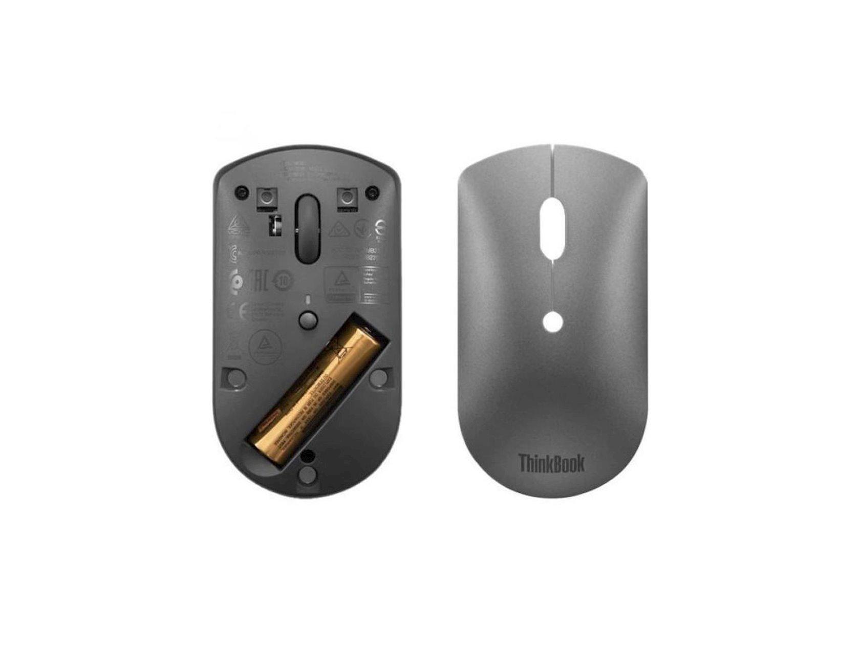 Kompüter siçanı Lenovo Thinkbook BT Silent Mouse Grey