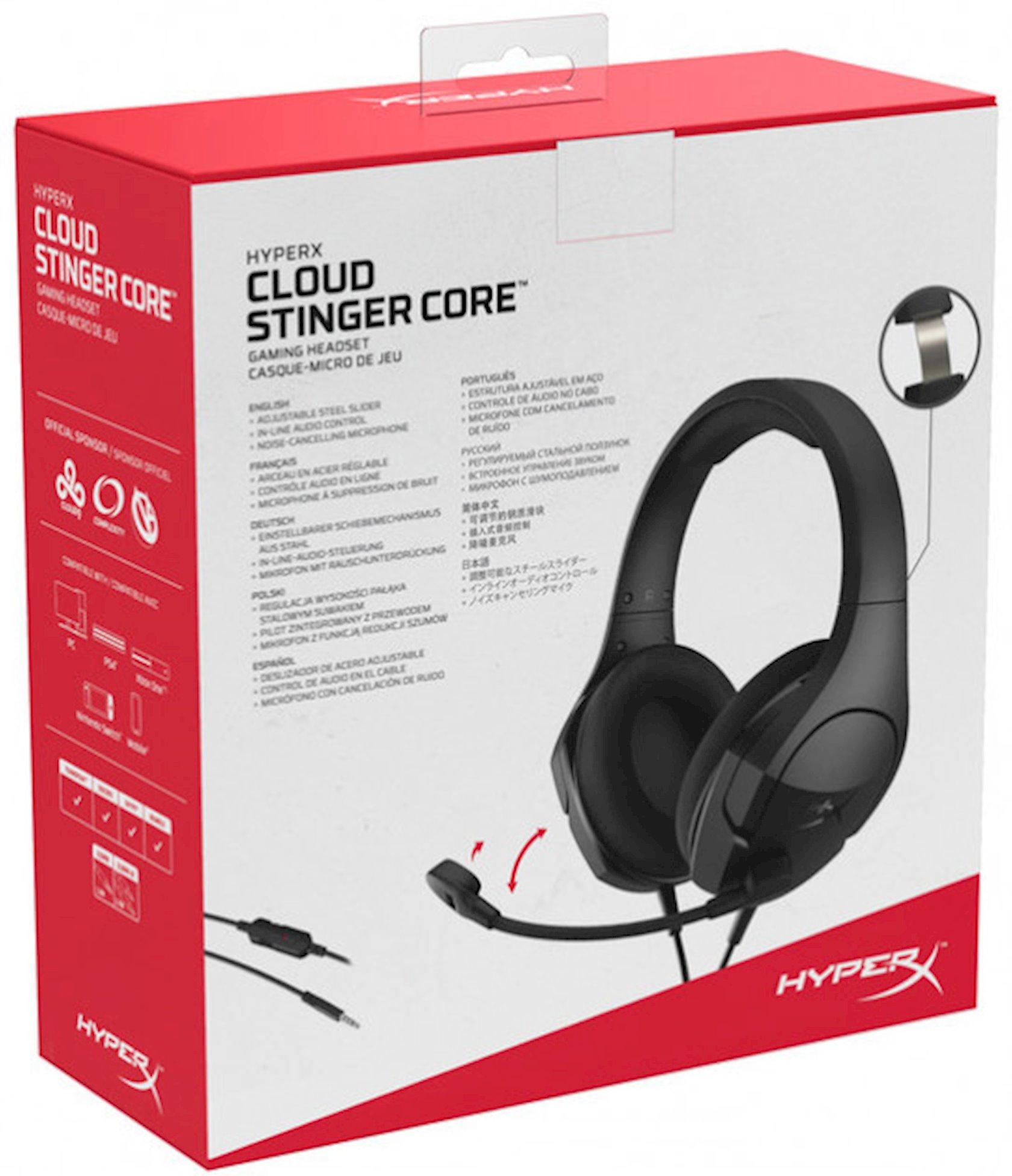 Qulaqlıq-qarnitur HyperX Cloud Stinger Core PC Black (HX-HSCSC2-BK/WW)