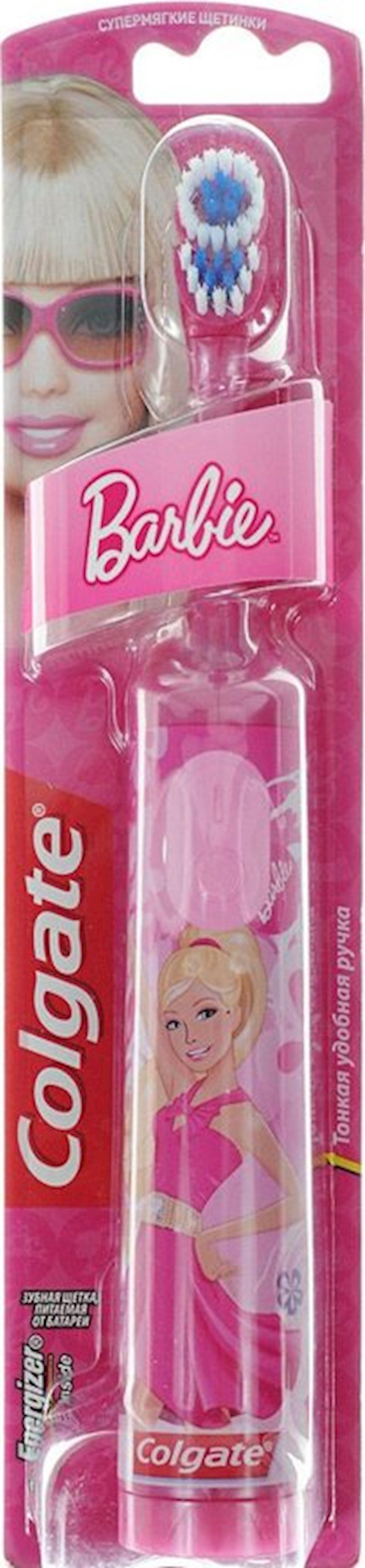 Elektrik diş fırçası Colgate Barbie yumşaq tüklər ilə rəngi çəhrayı