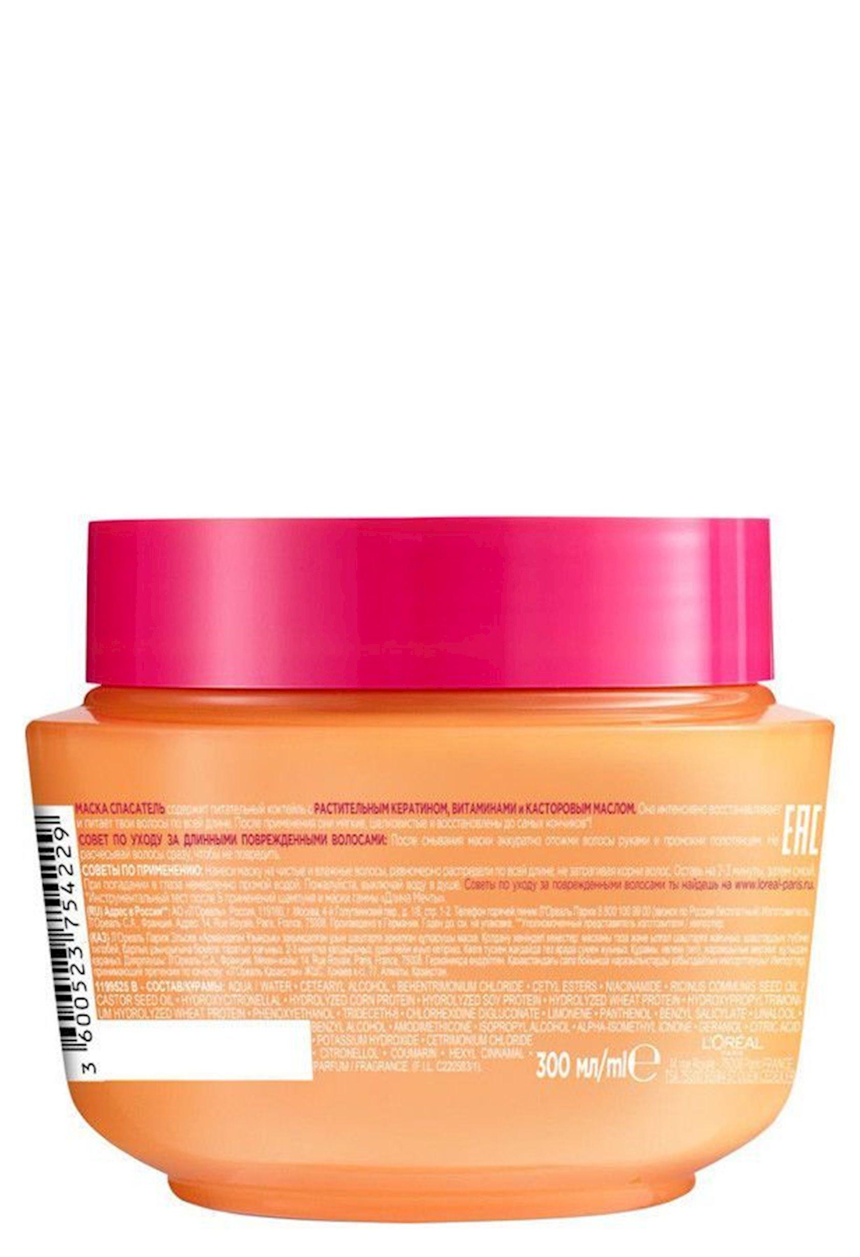 Saç üçün maska L'Oréal Paris Elseve Xəyallar uzunluğu, 300 ml