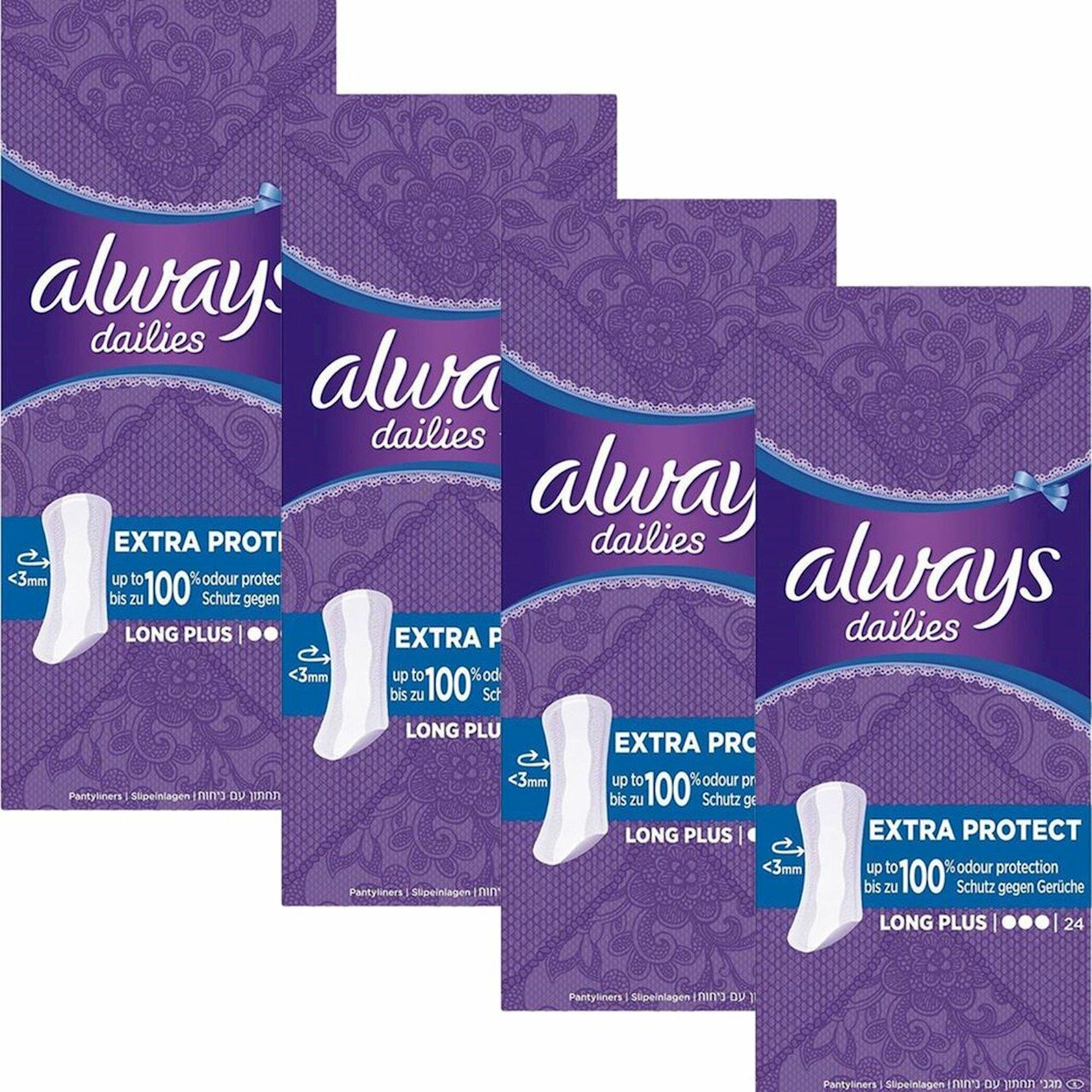 Bezlər Dailies Always Extra Protect Long Plus Panty Liners 24 ədəd