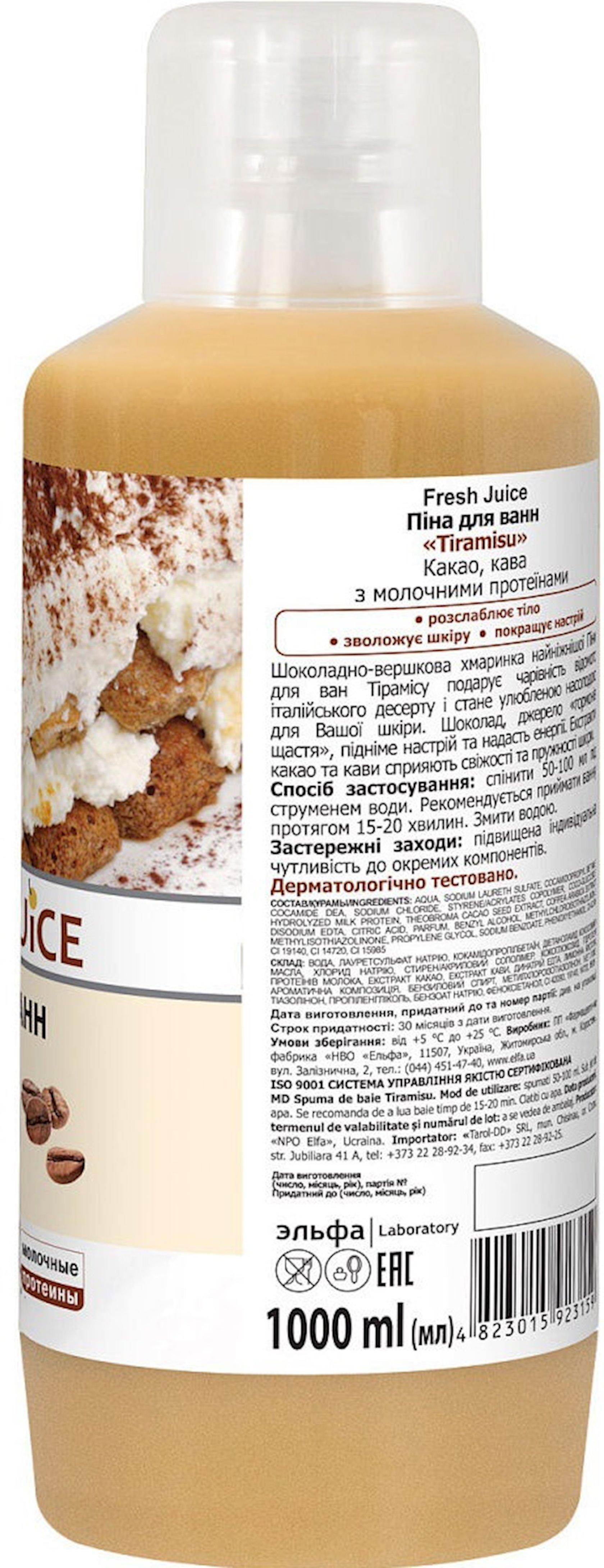 Vanna köpüyü Fresh Juice Tiramisu, 1000 ml