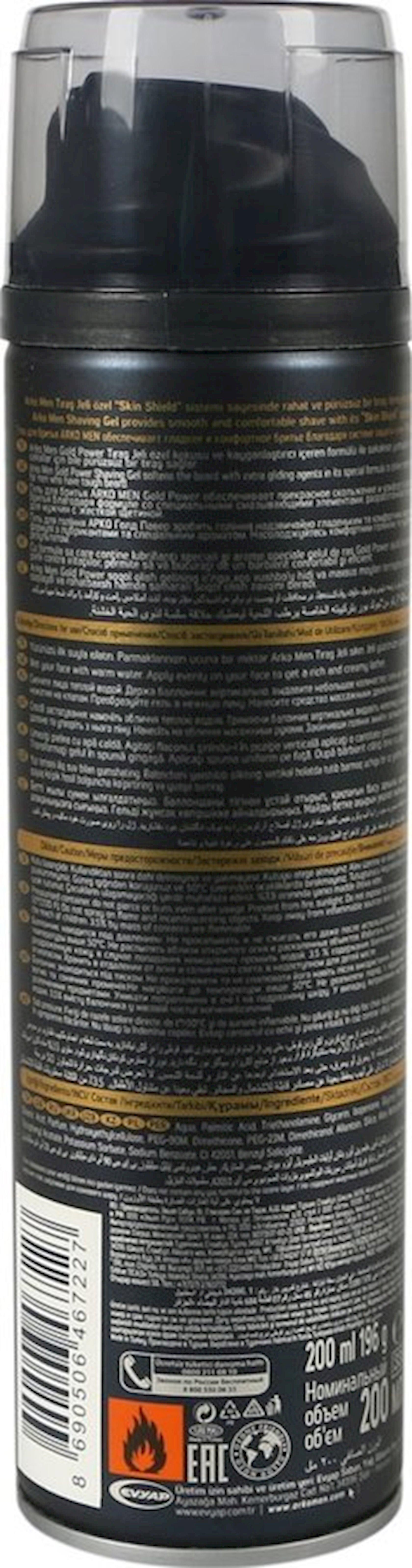 Təraş geli Arko Gold Power, 200 ml