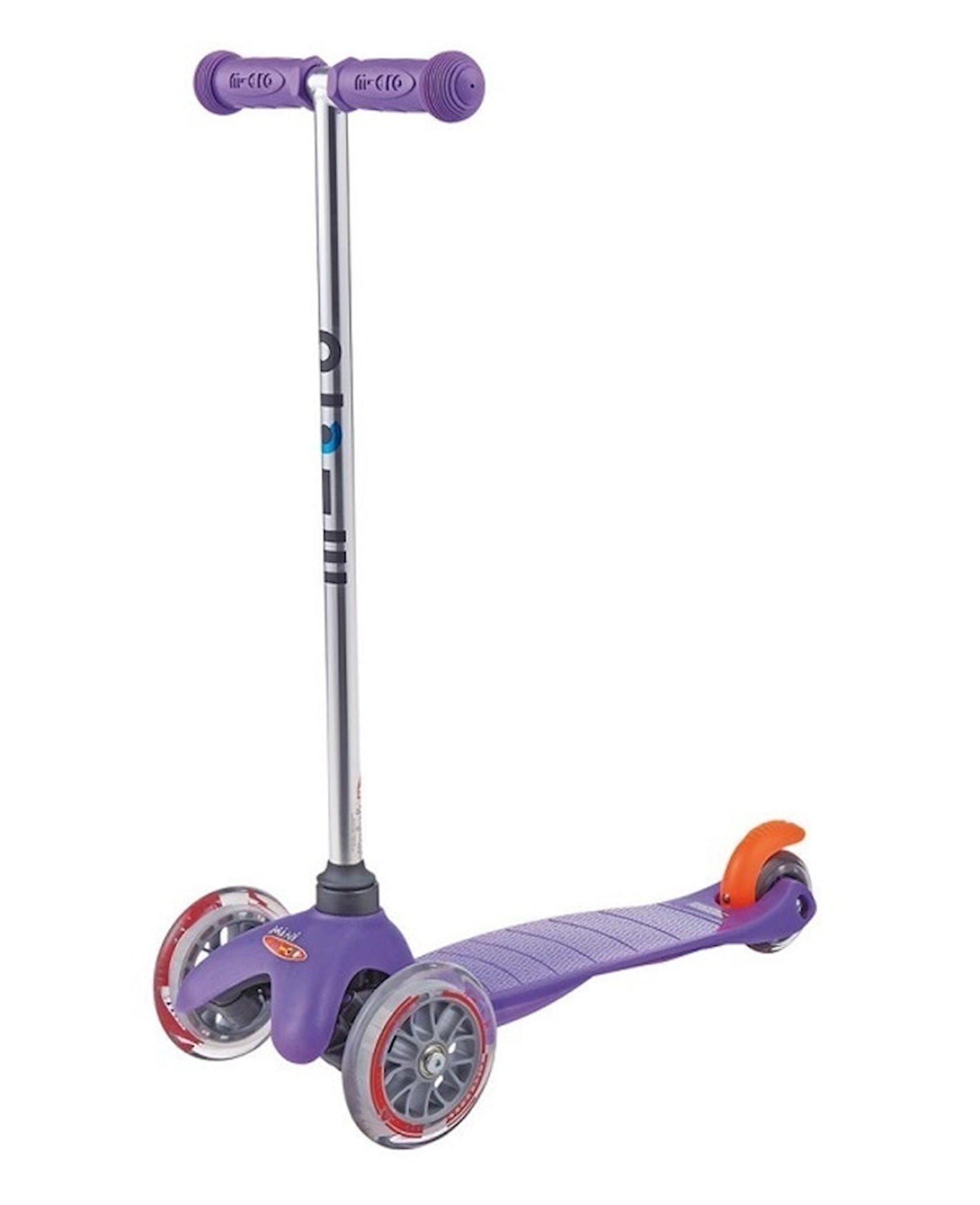Üç təkərli samokat Micro Mini Scooter Purple, bənövşəyi, alüminium, plastik, 2+ yaş, 68x25x15 sm, təkərlər 120/80 mm, 1900 q