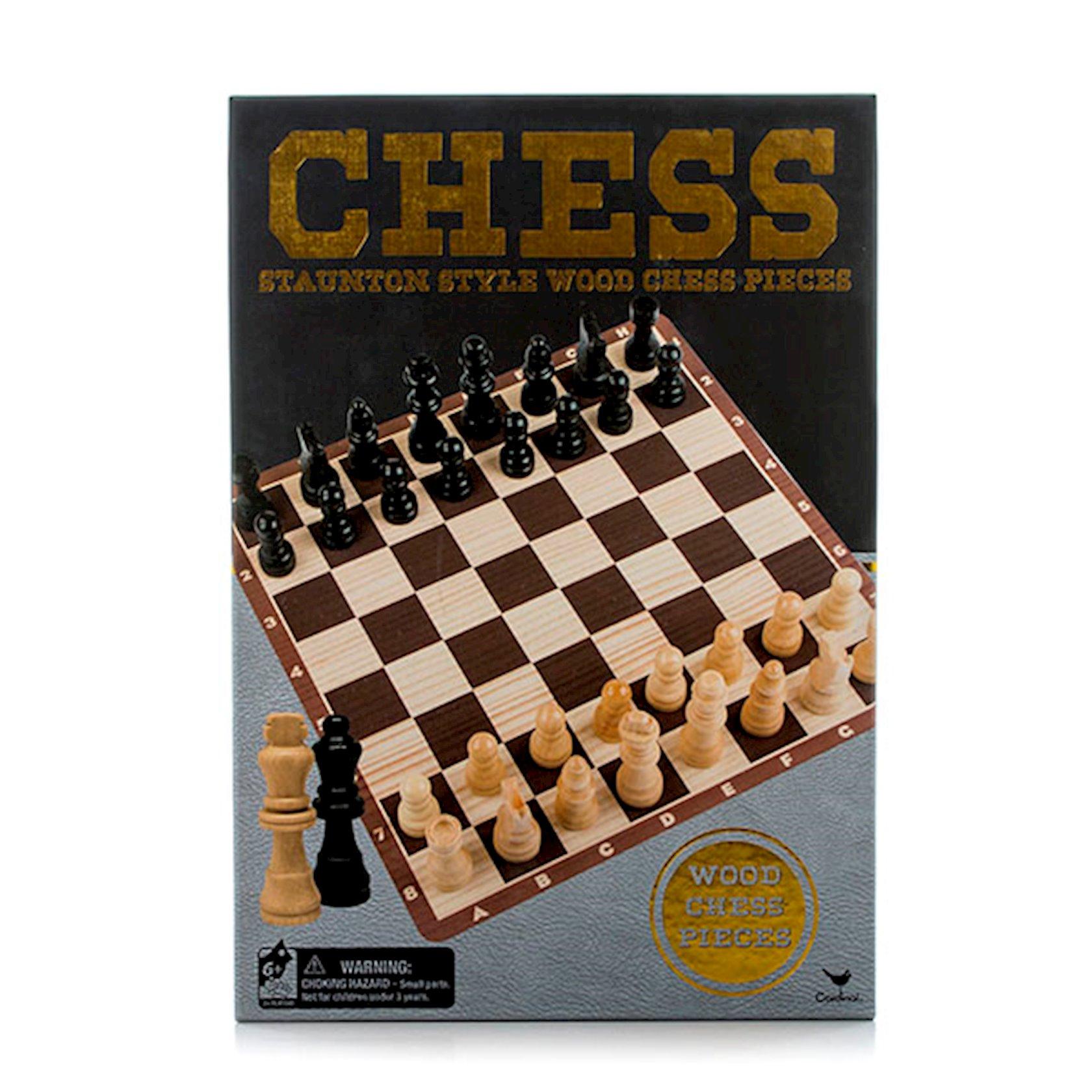 Klassik şahmat Red Bird Chess Stauntion Style Wood Chess Pieces, ağac, 32 ədəd