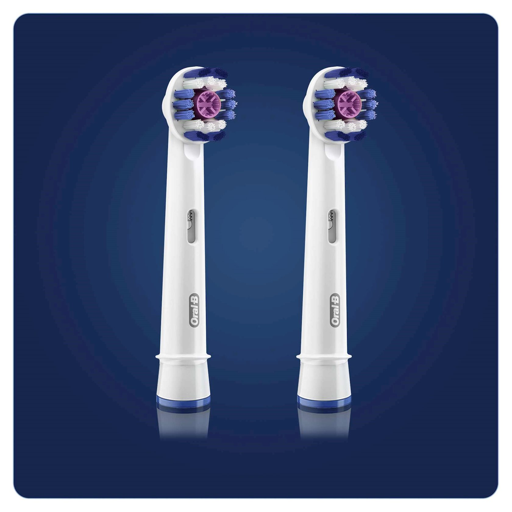 Elektrik diş fırçası üçün dəyişilən taxmalar Oral-B 3D White, 2 əd.