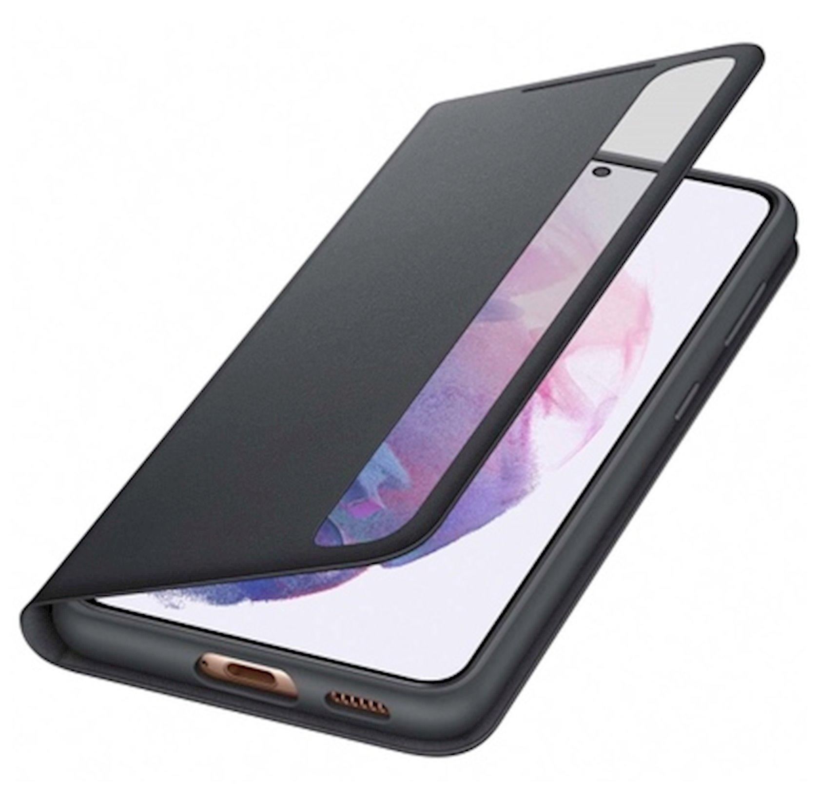 Çexol Samsung Galaxy S21 Smart Clear View Cover Black